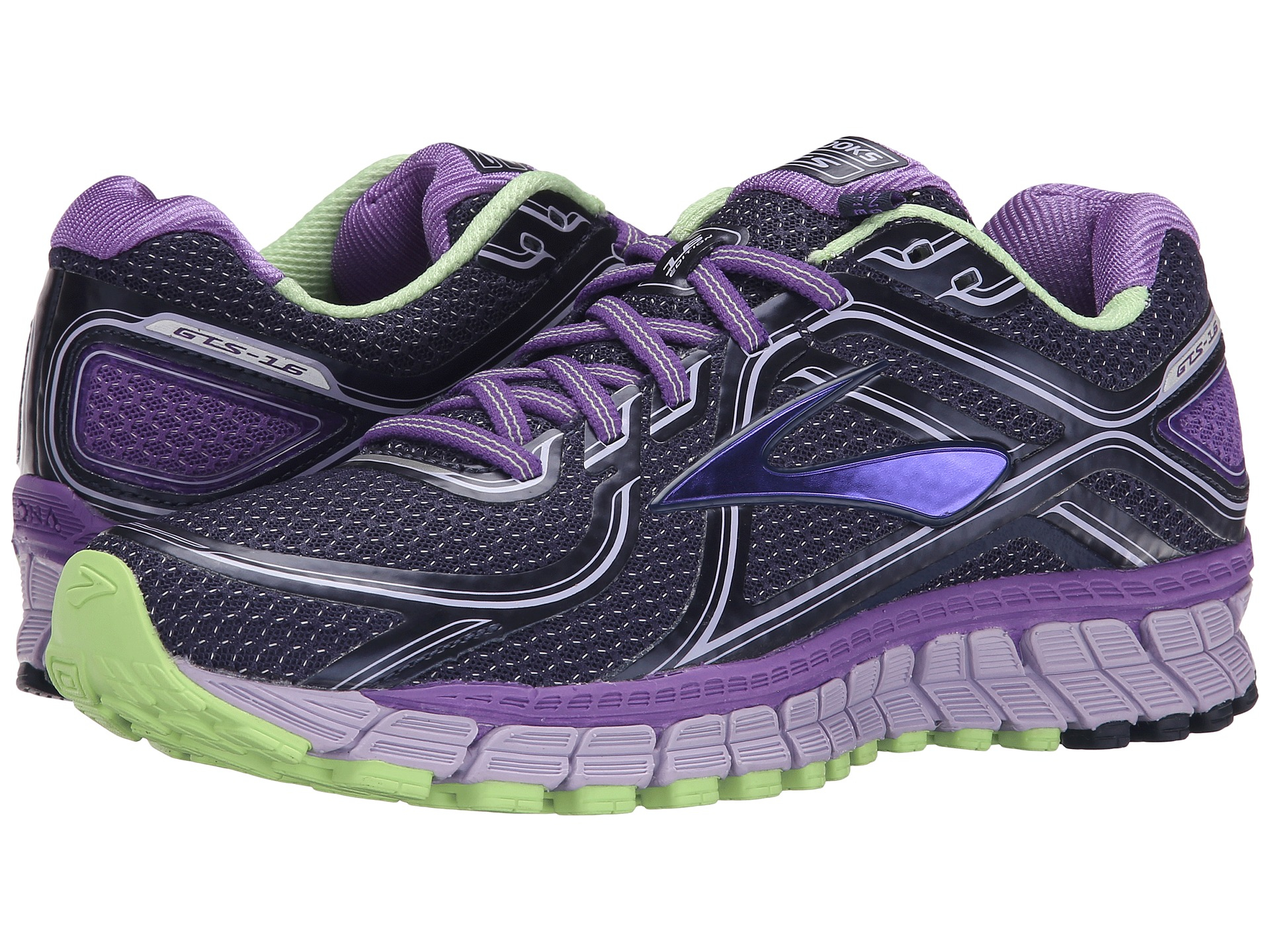 lyst brooks adrenaline gts 16 in purple. Black Bedroom Furniture Sets. Home Design Ideas