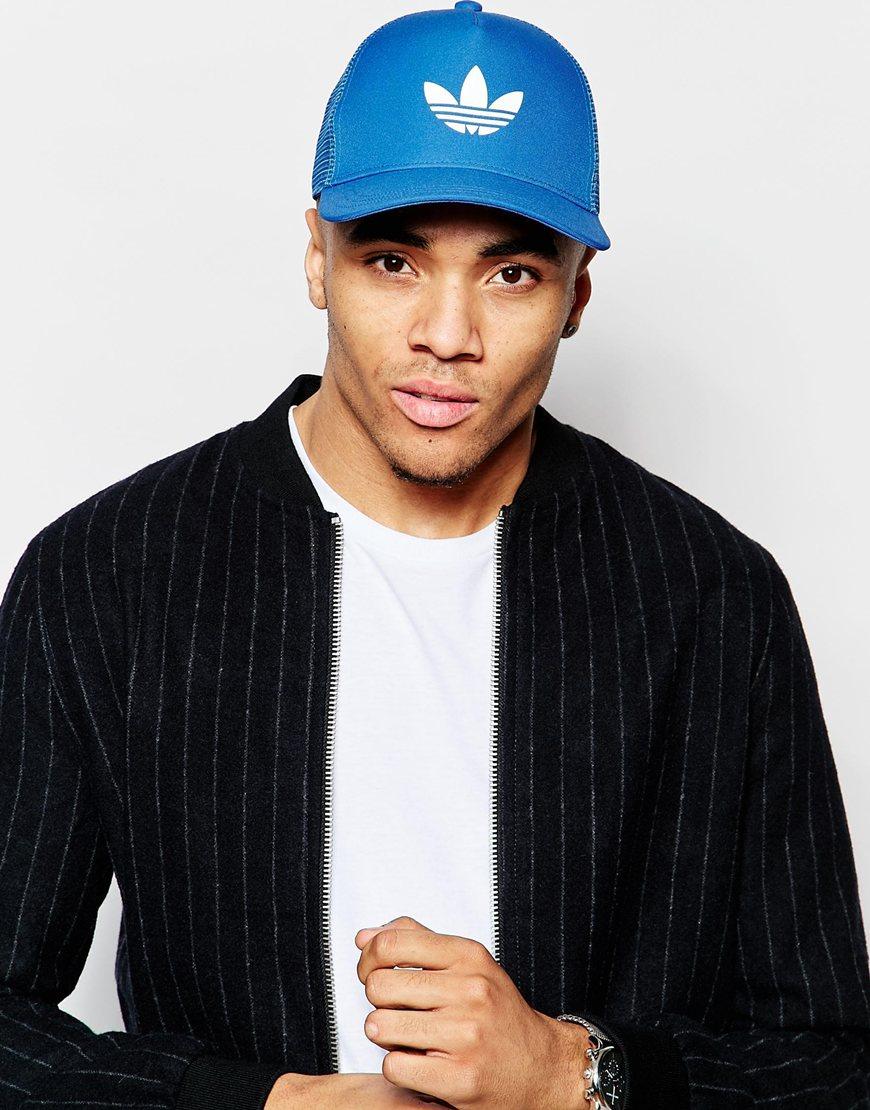 Lyst - adidas Originals Trucker Cap - Blue in Blue for Men 9a411a567ed