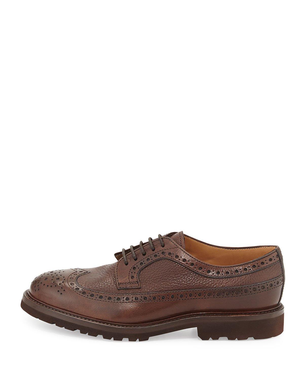 Orsnge Pebbled Leather Shoe