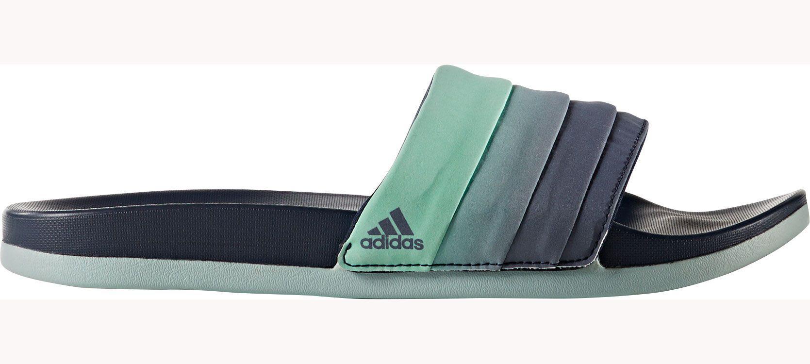 95b45563052b6 Lyst - adidas Adilette Cloudfoam Plus Slides in Green