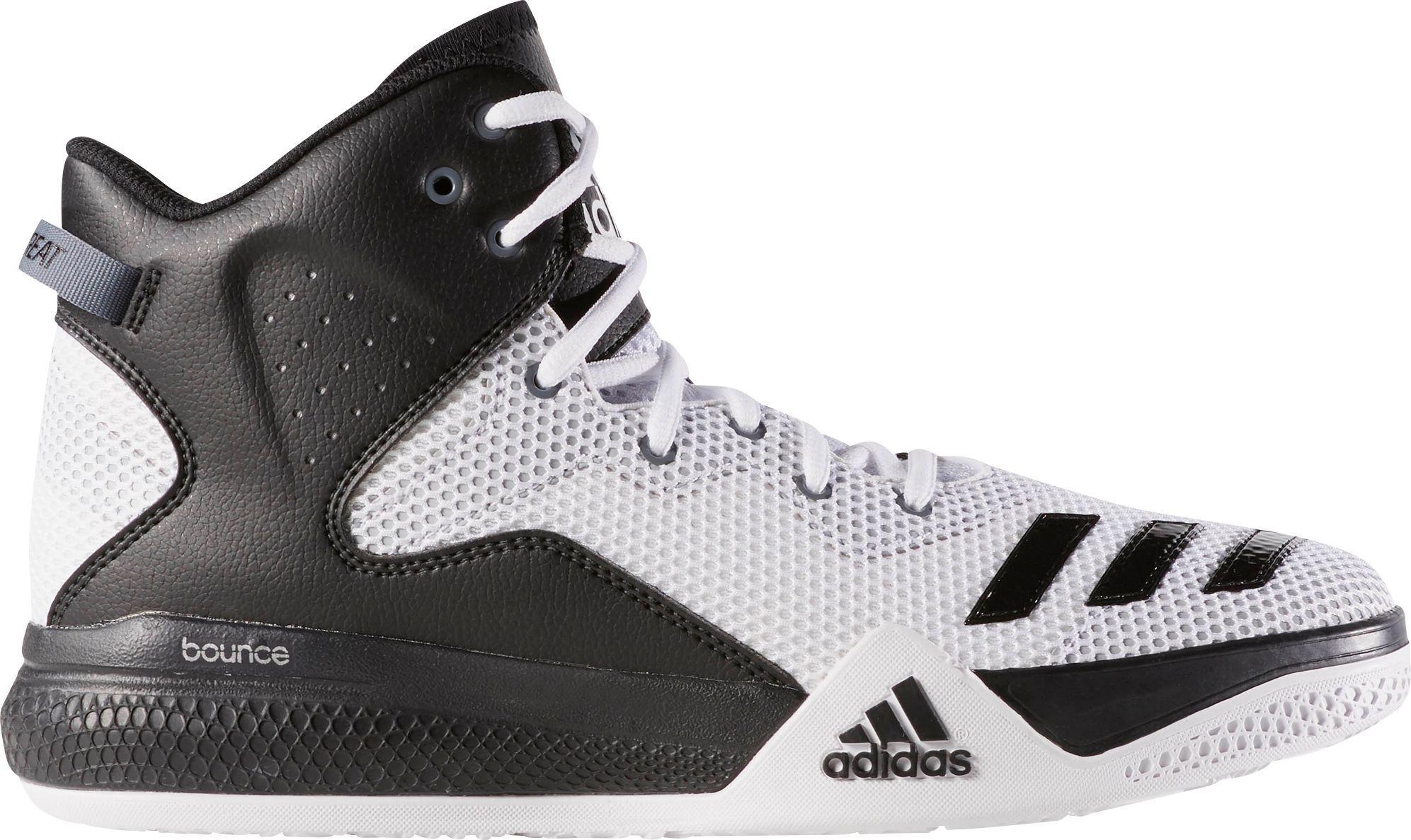 1b61dd1b67d4 adidas Originals Dual Threat Basketball Shoes in White for Men - Lyst