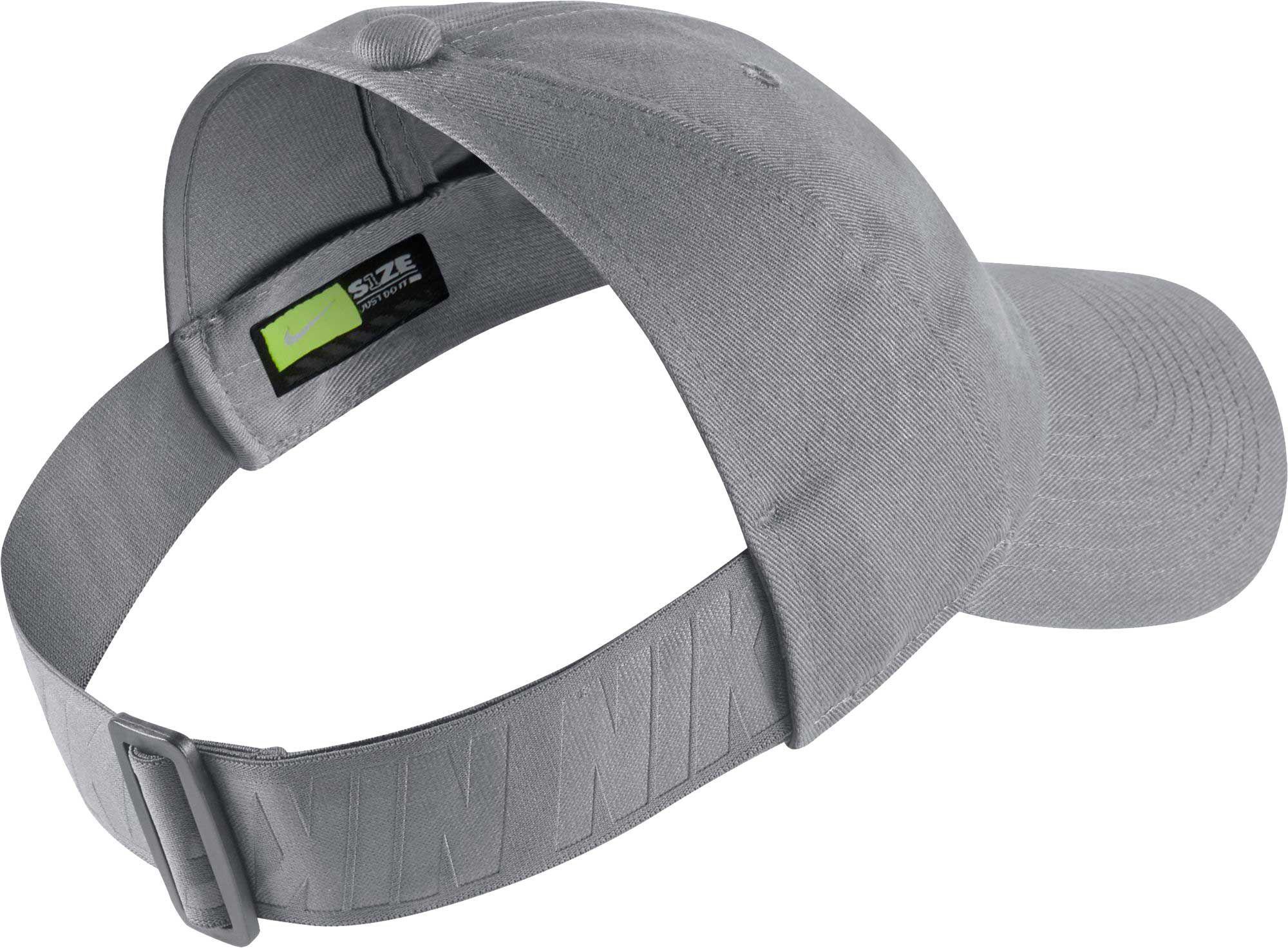 Lyst - Nike Sportswear Open Back Visor Hat in Gray f6544e317bc