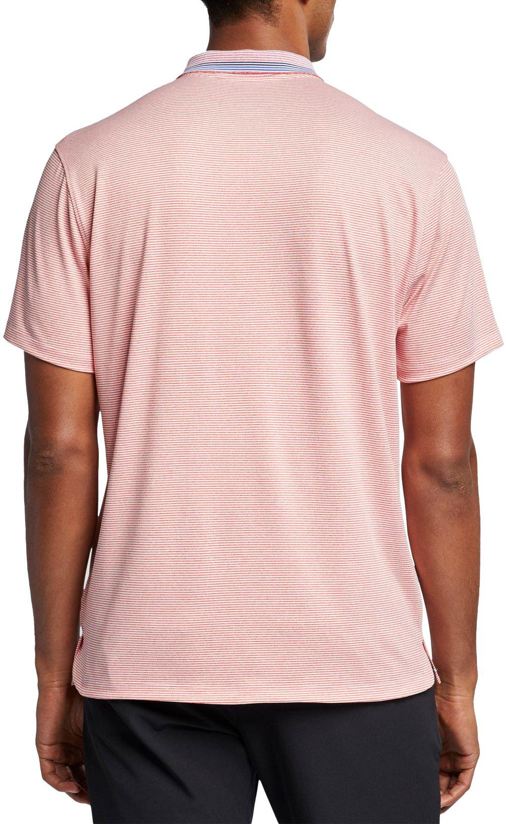 49ce58efe3 Nike - Pink Vapor Control Stripe Golf Polo for Men - Lyst. View fullscreen