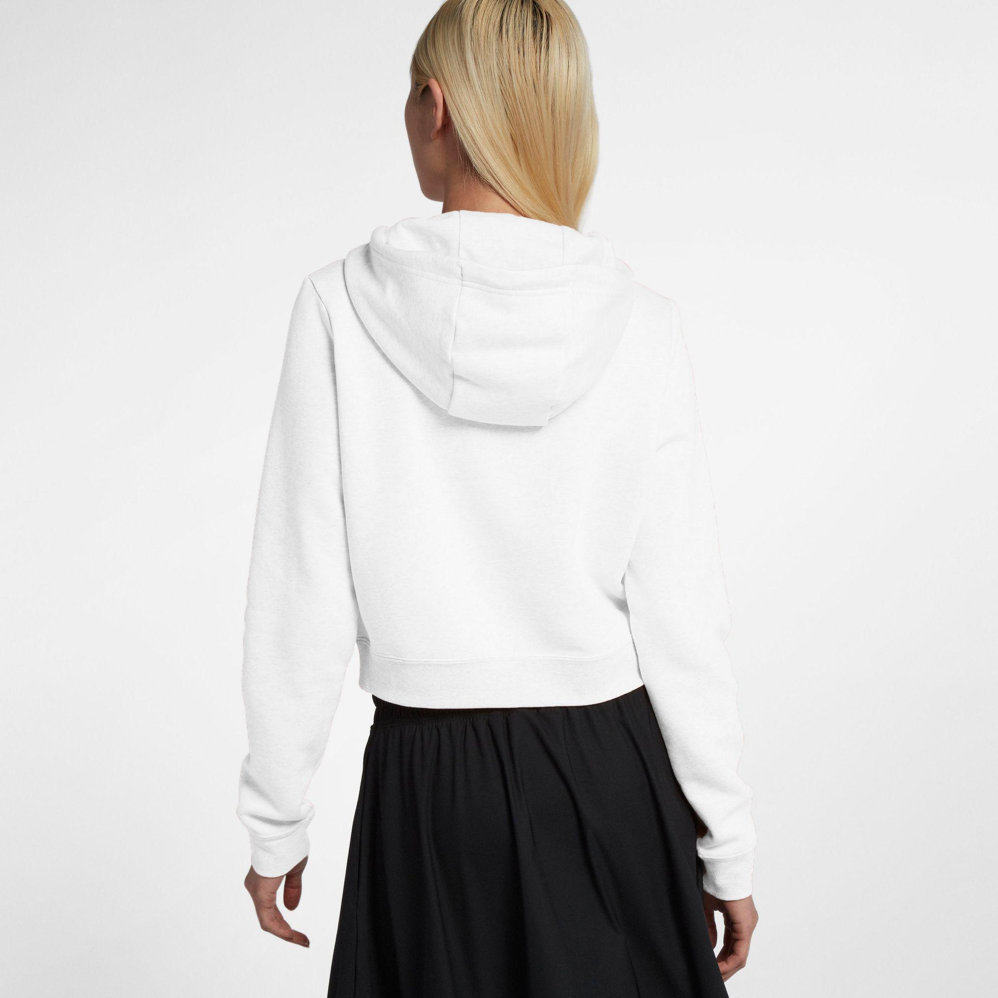 9846aed35a1de Nike - White Sportswear Rally Cropped Hoodie - Lyst. View fullscreen