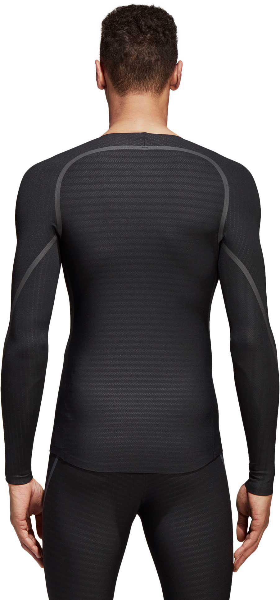 ef1cbb311386d Adidas - Black Alphaskin 360 Long Sleeve Shirt for Men - Lyst. View  fullscreen