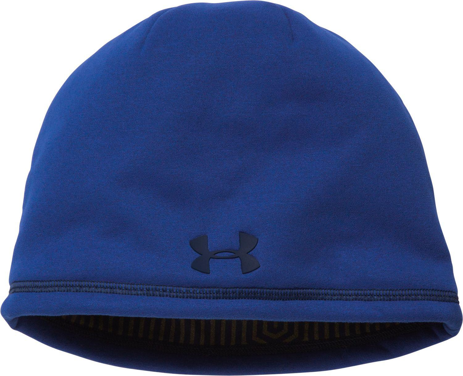 8f1972285ad ... wholesale under armour blue coldgear infrared elements storm 2.0 beanie  for men lyst 5a586 cce20 ...