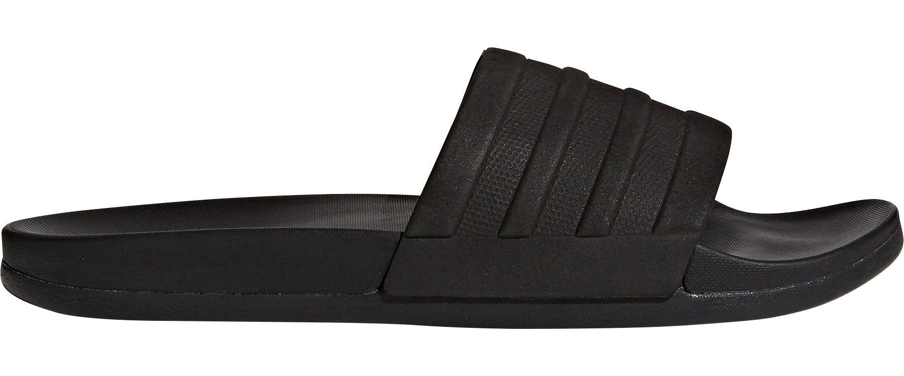 47ff722ba Lyst - adidas Adilette Cloudfoam Plus Mono Slides in Black for Men