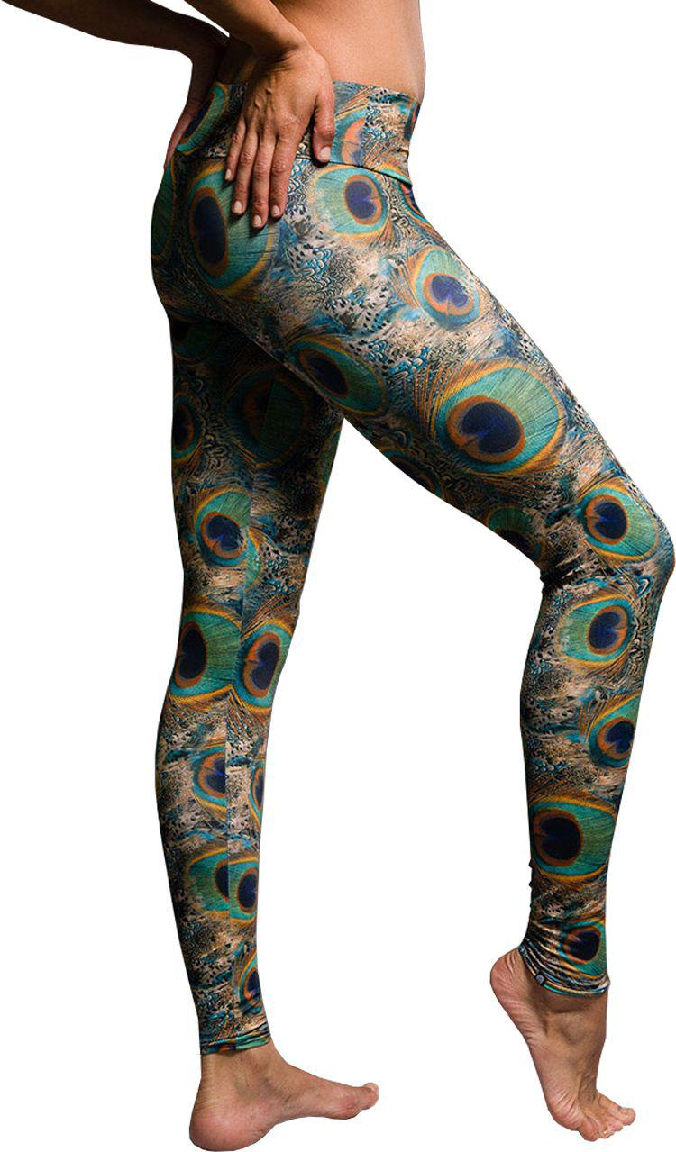 963a6eb30ea3 Lyst - Onzie Peacock Green Long Leggings in Green