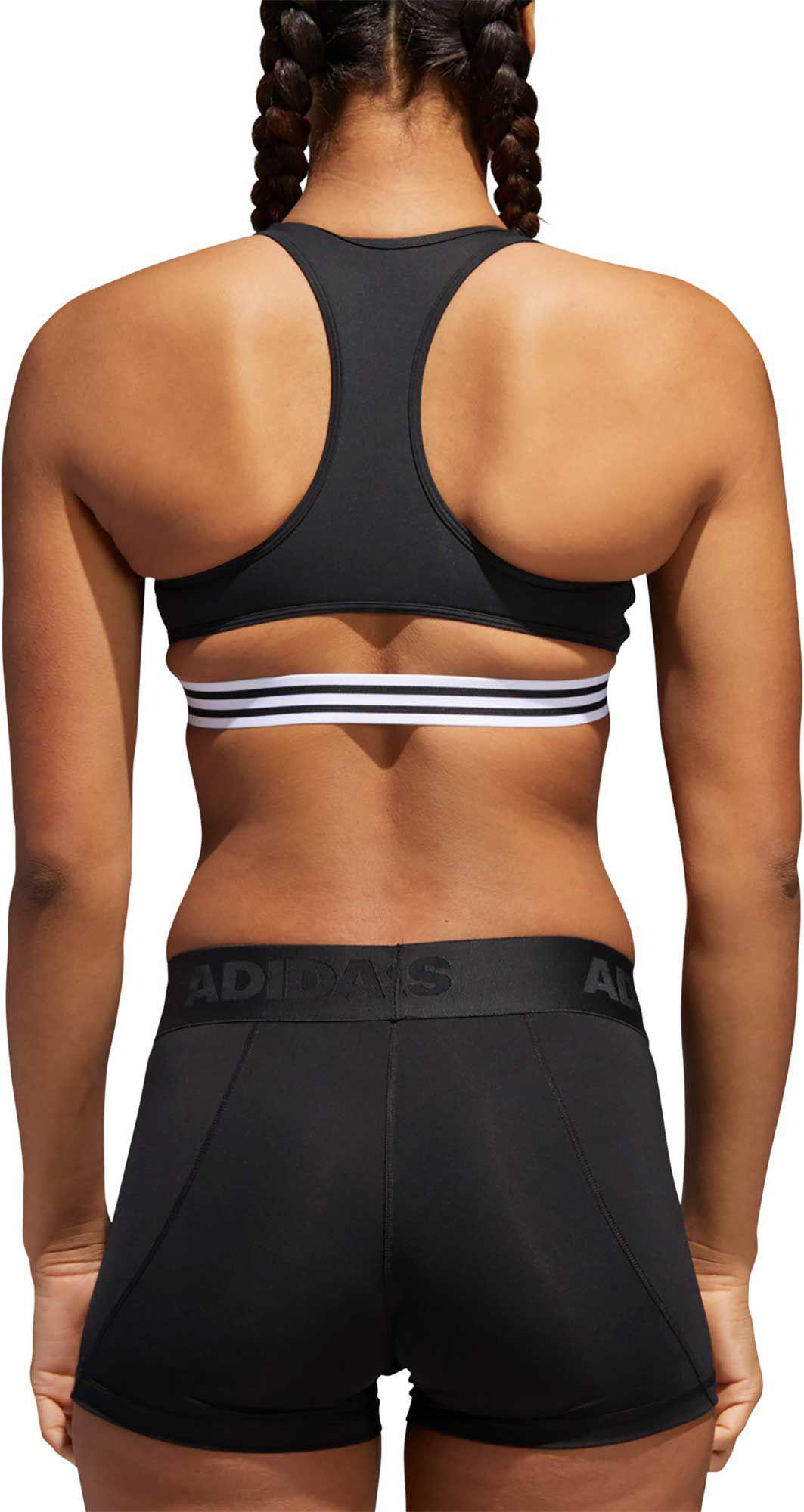 e114946d38f4c Adidas - Black On Lock 3-stripe Sports Bra - Lyst. View fullscreen