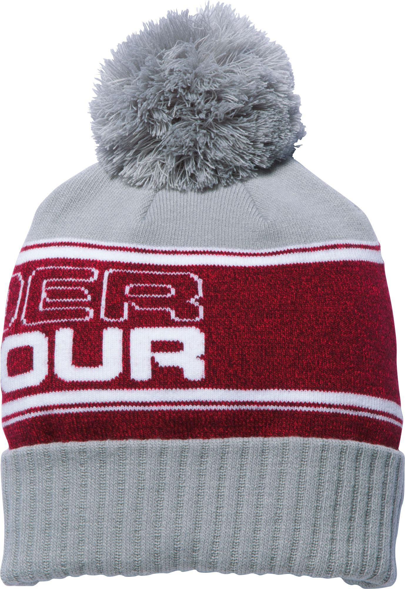 6a56e8fadc7 Under Armour - Red Pom Beanie for Men - Lyst. View fullscreen
