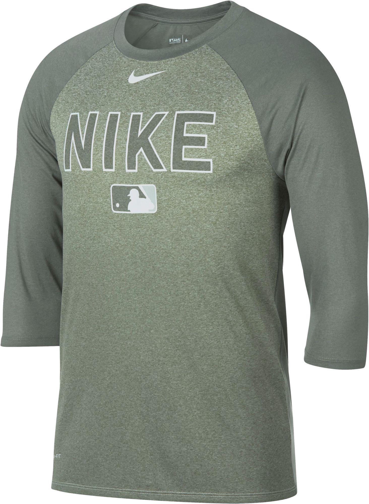 df5b91b9 Nike - Gray Legend Raglan 3⁄4-sleeve Baseball Shirt for Men - Lyst. View  fullscreen