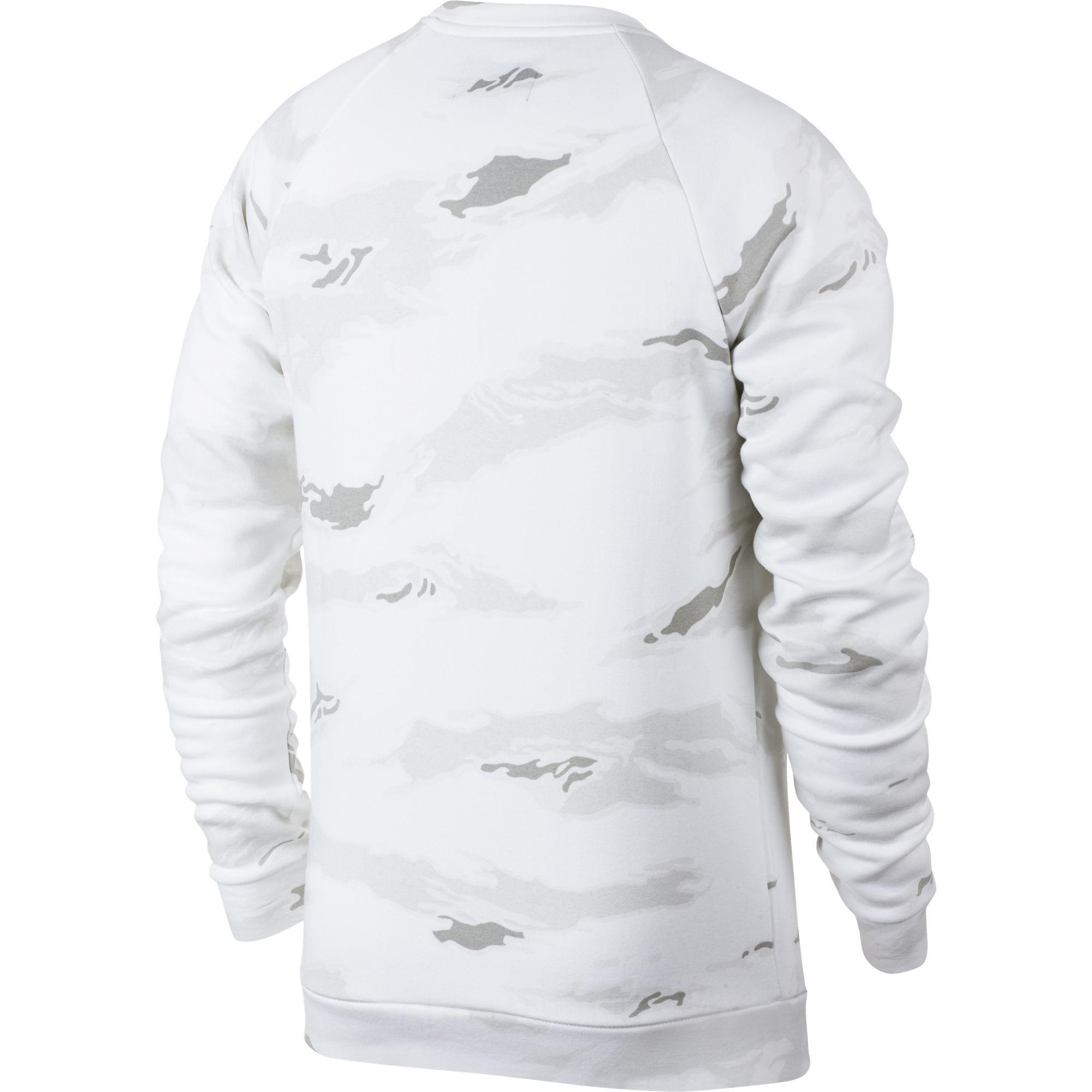 e306903212d359 Nike - White Jumpman Camo Fleece Pullover for Men - Lyst. View fullscreen
