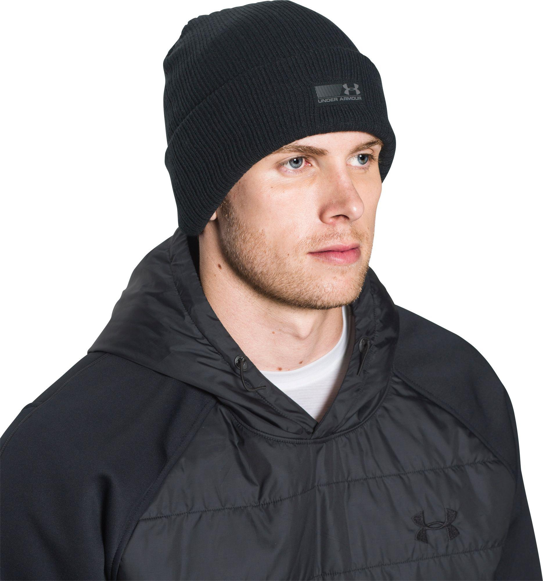 e574306e12c6e8 Under Armour Truck Stop Beanie in Black for Men - Lyst