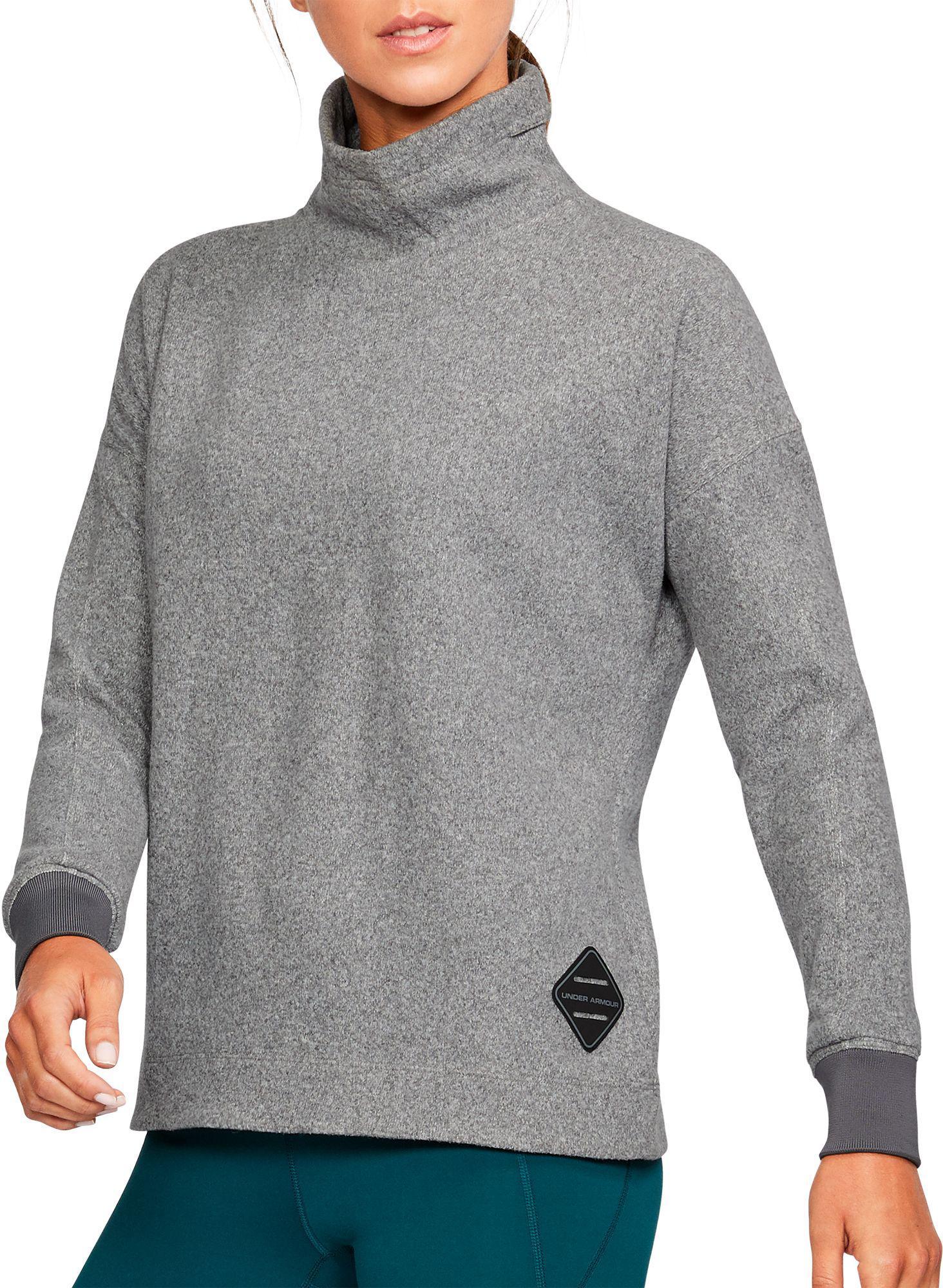 Lyst Under Armour Sweater Fleece Funnel Neck Sweatshirt
