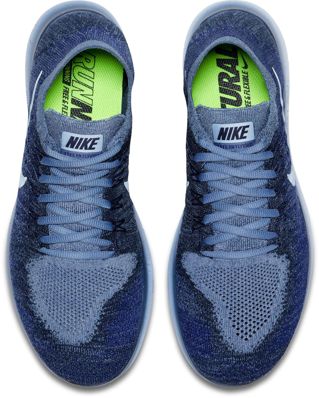 462003d27cde Lyst - Nike Free Rn Flyknit 2017 Running Shoes in Blue for Men