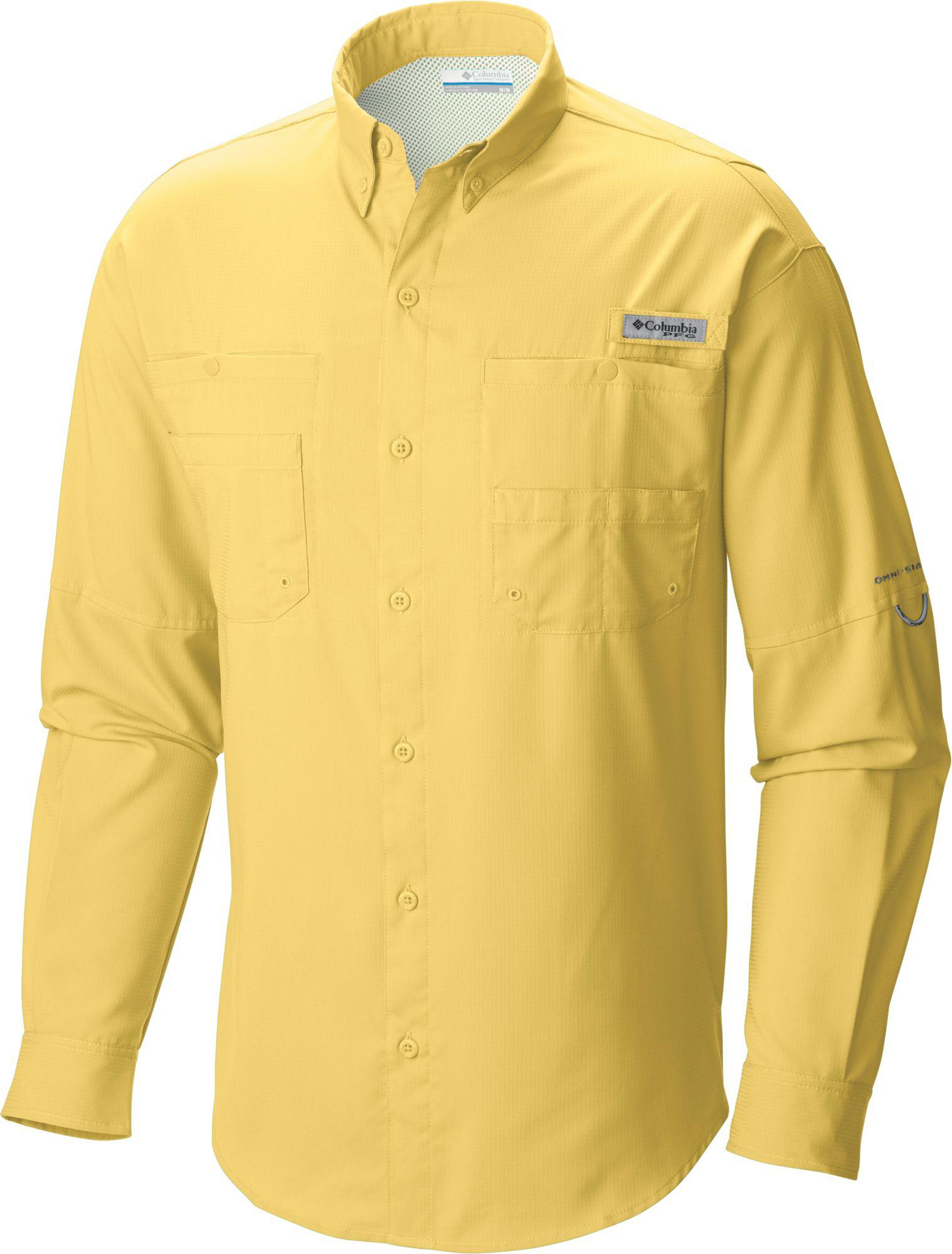 282d6a28661 Columbia Pfg Tamiami Ii Long Sleeve Shirt in Yellow for Men - Save ...