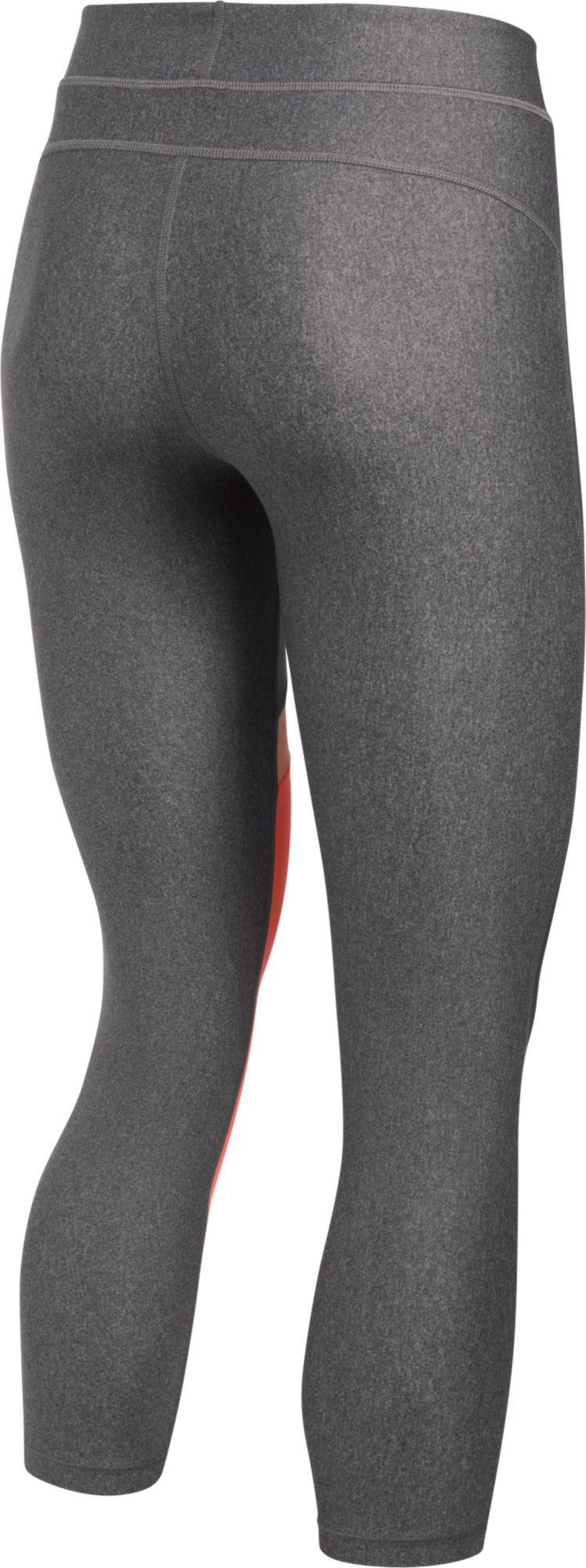4b756bdaccbd Lyst - Under Armour Heatgear Color Block Capris in Gray