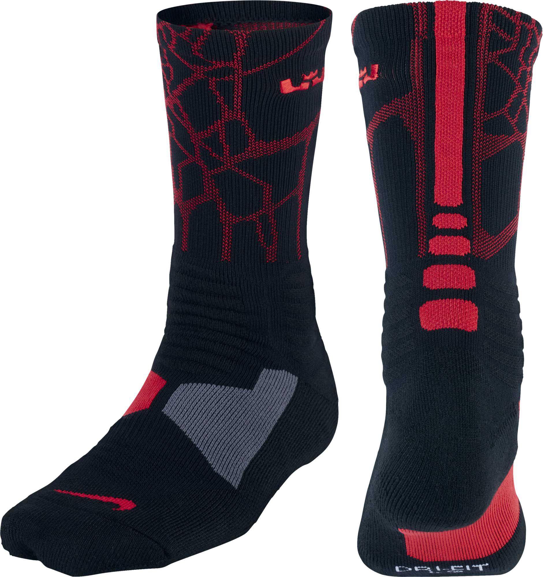 4d4fed4453e6 Nike Lebron Hyper Elite Crew Basketball Socks in Black for Men - Lyst