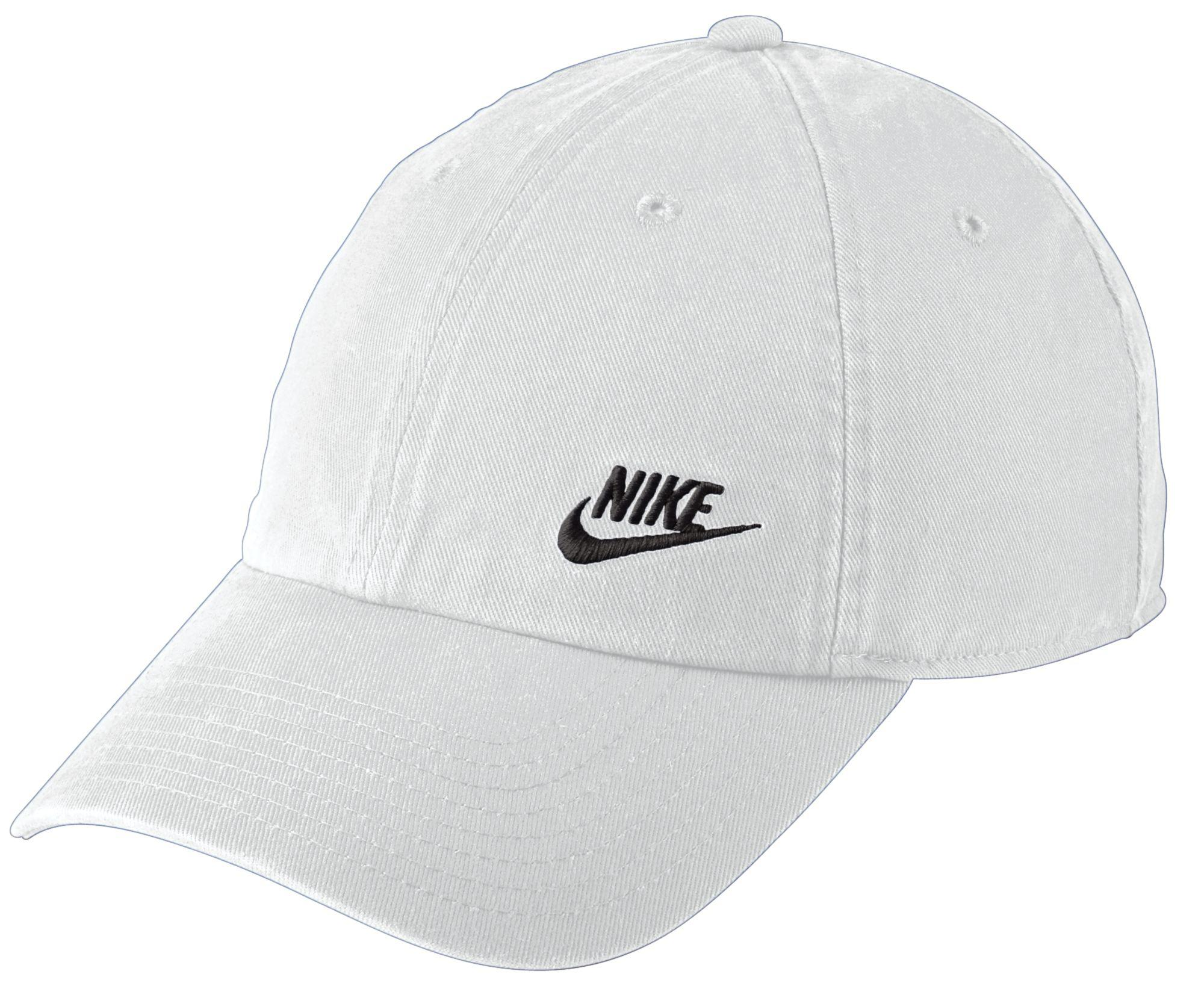 huge selection of 95830 9bd2e Nike. Women s White Twill H86 Adjustable Hat