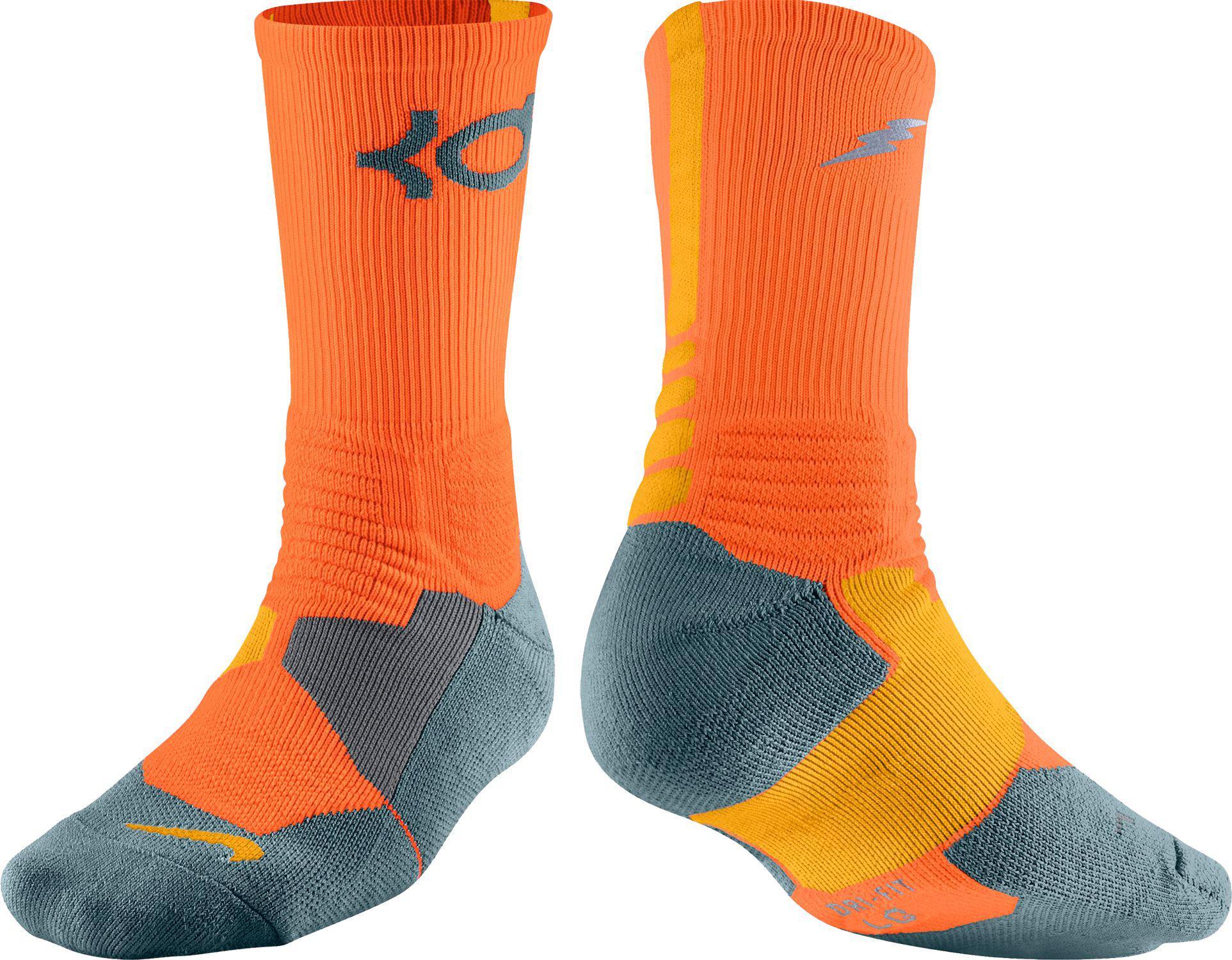 cefbfd79f741 Lyst - Nike Kd Hyper Elite Crew Basketball Socks in Orange for Men