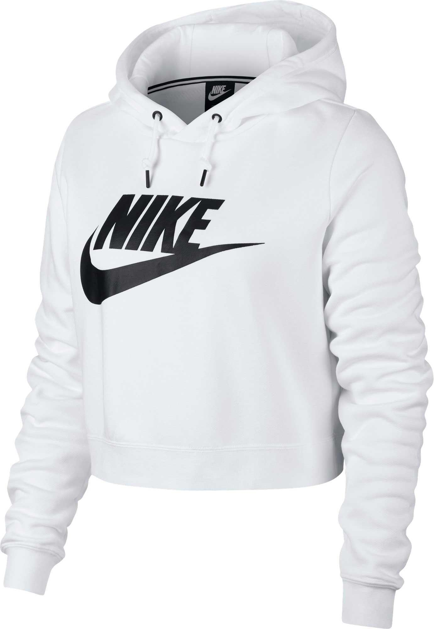 f53d2619d7a Nike. Women s White Sportswear Rally Cropped Hoodie.  60  34 From Dick s  Sporting Goods