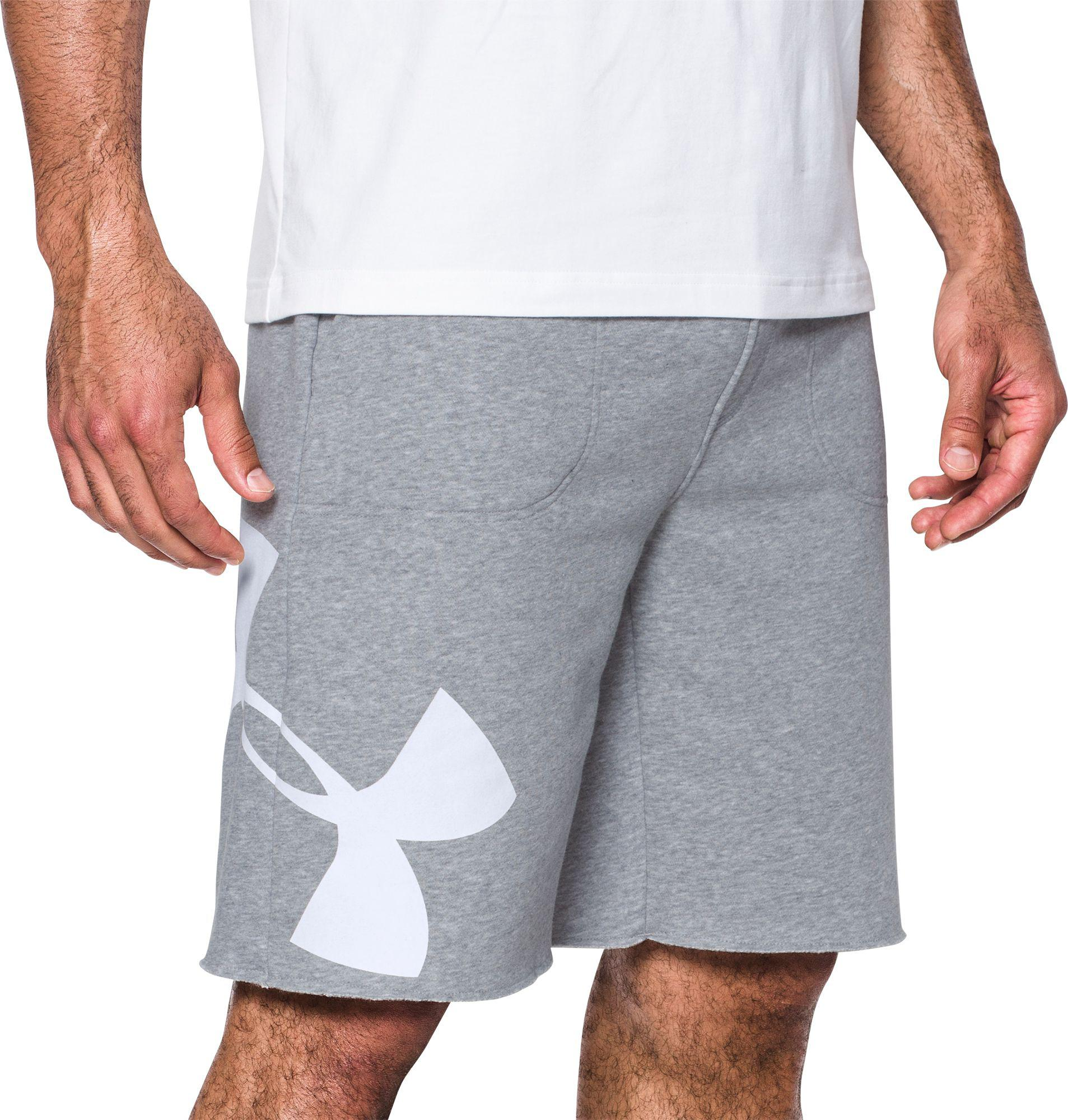 b5aada15777 Lyst - Under Armour Rival Exploded Graphic Shorts in Gray for Men