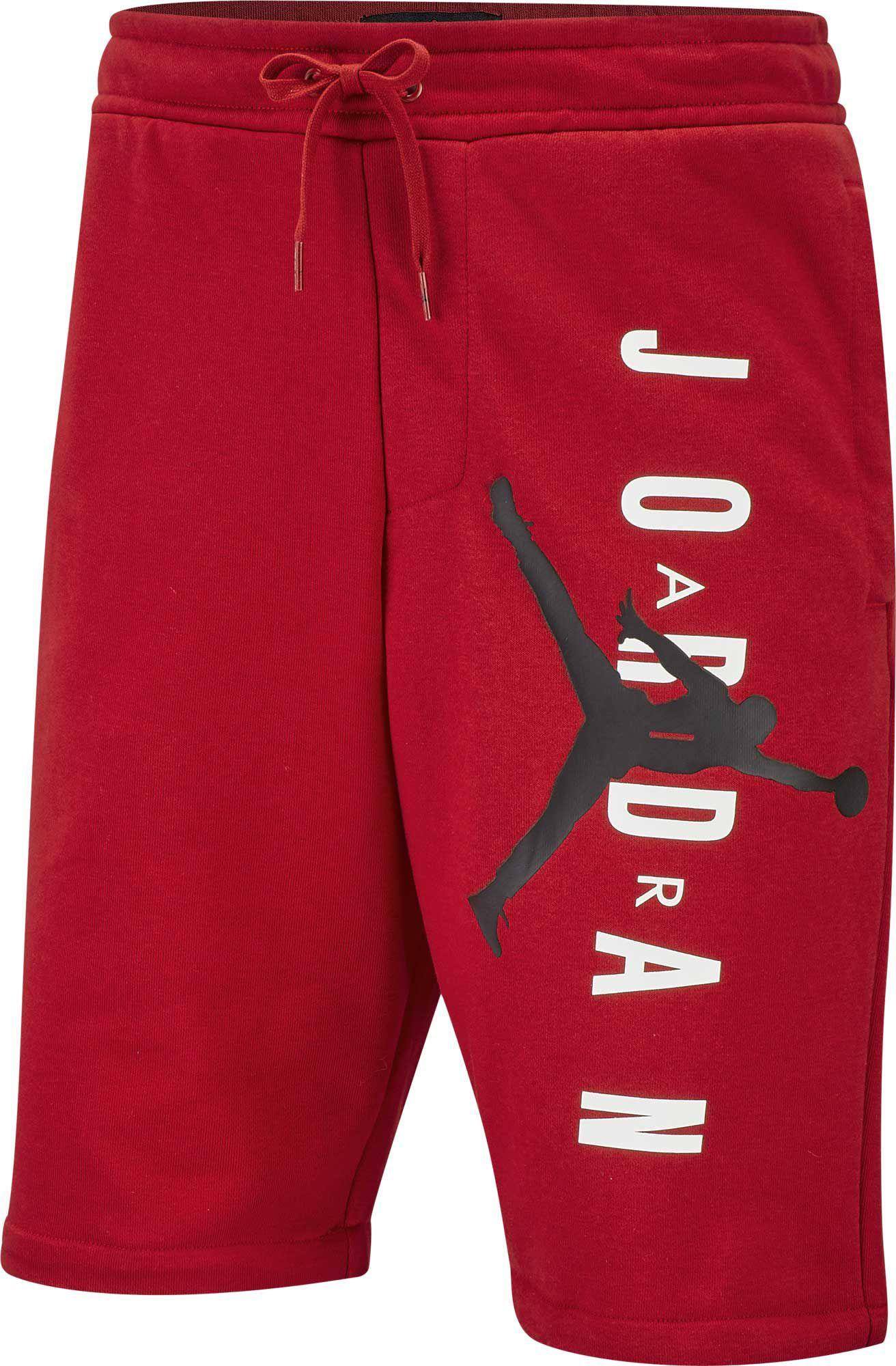 7353d43b584d Nike Jordan Jumpman Air Fleece Shorts in Red for Men - Lyst