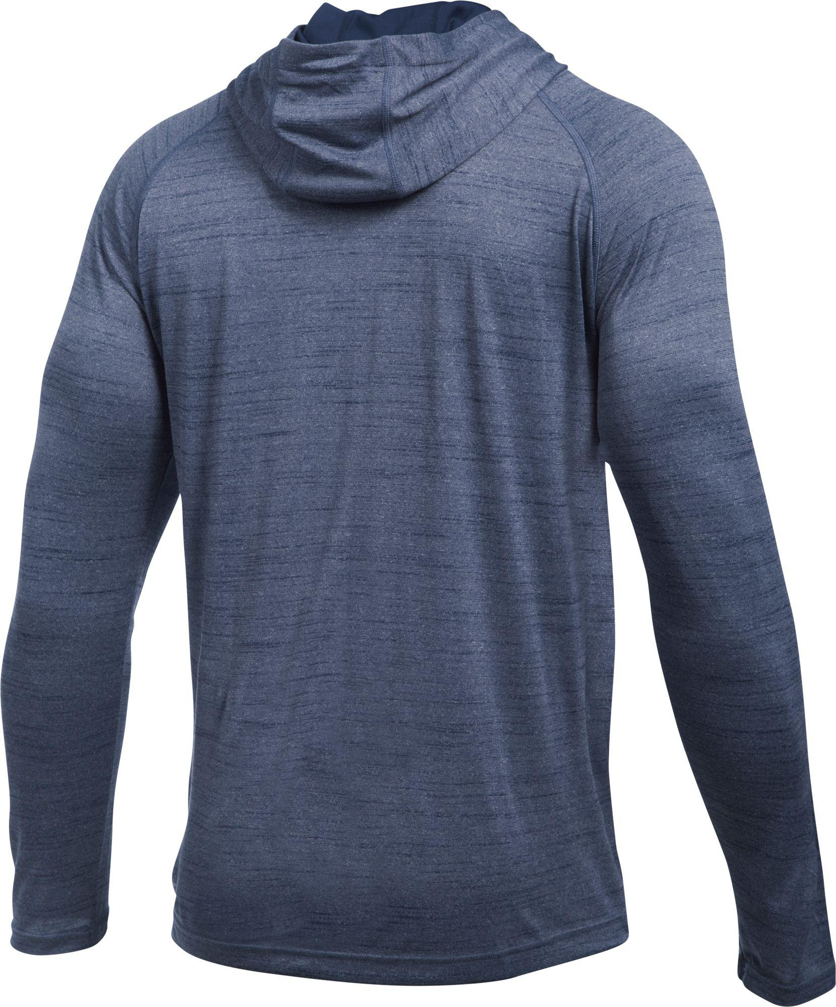 75e414b8a5e0 Lyst - Under Armour Tech Popover Henley Hoodie in Blue for Men