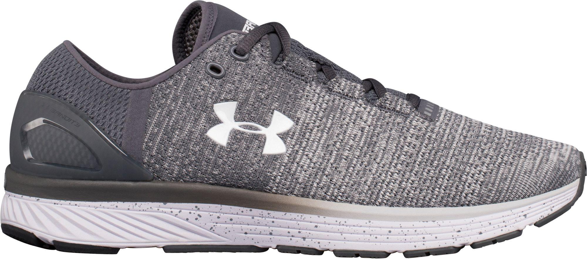 7450e9dd7140 ... Under Armour - Gray Charged Bandit 3 Running Shoes for Men - Lyst ...