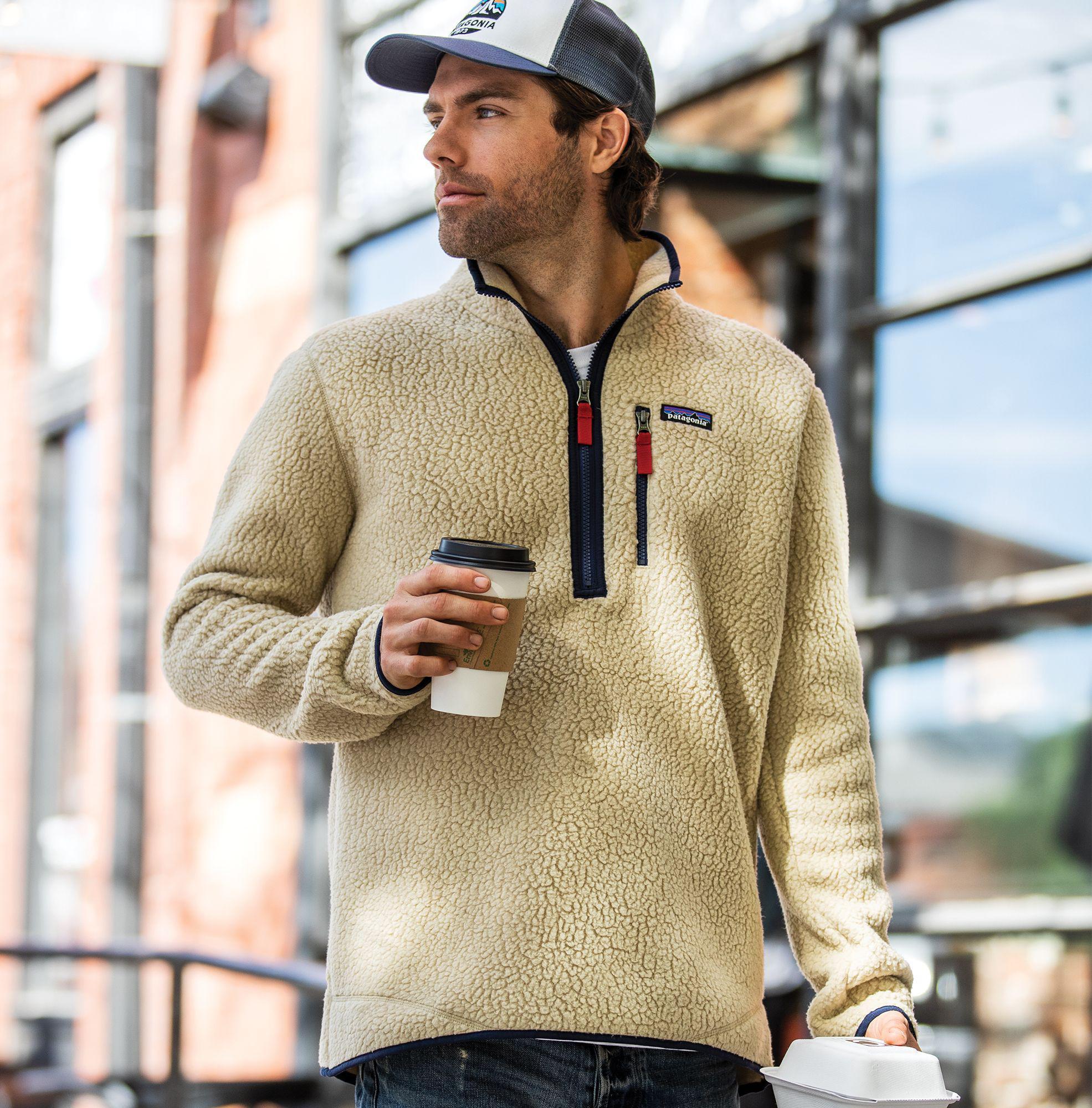 dabfa696 Patagonia Retro Pile Fleece Pullover in Natural for Men - Lyst