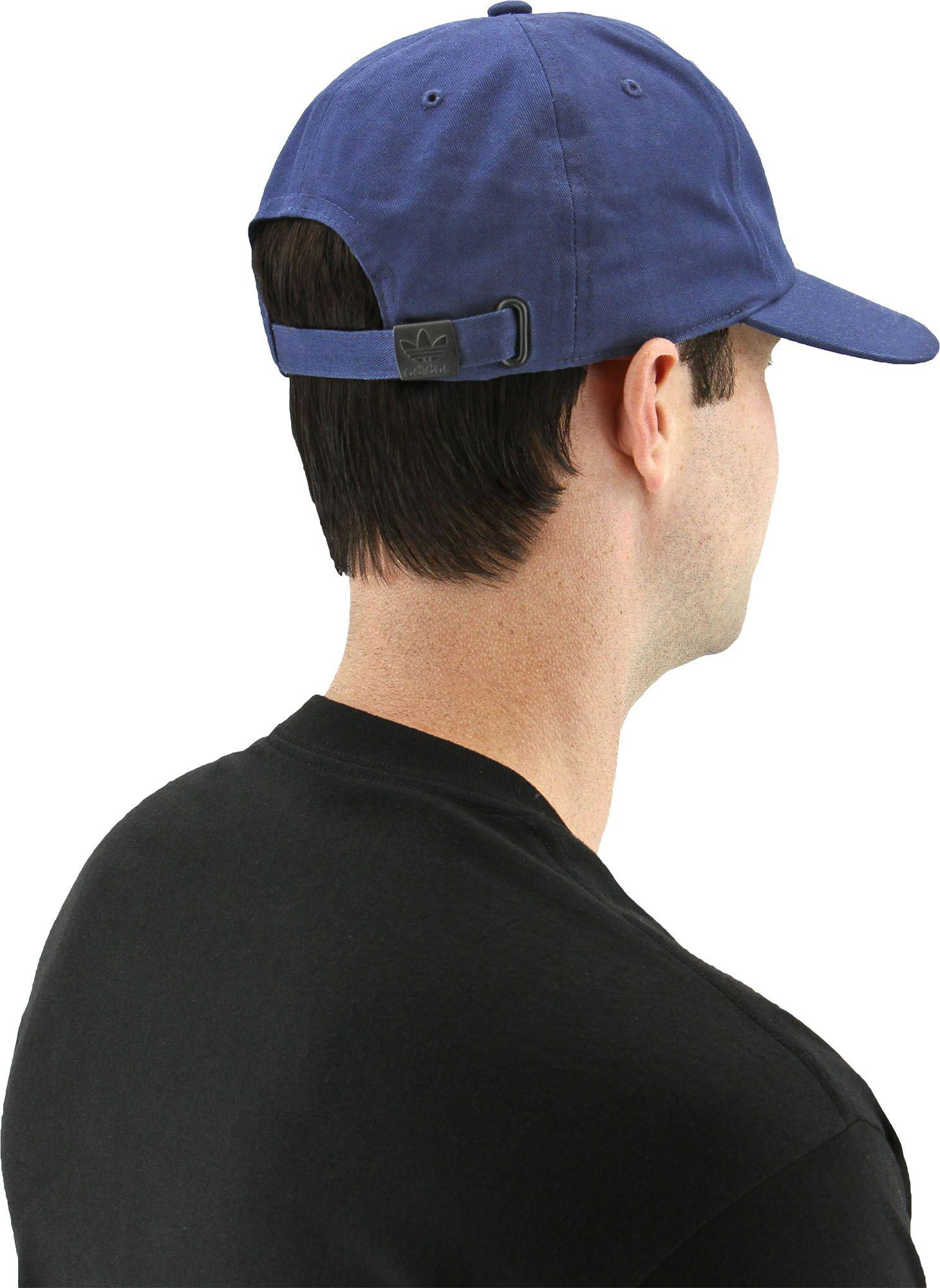 Lyst - adidas Originals Relaxed Base Strapback Hat in Blue for Men ad8a40072c4