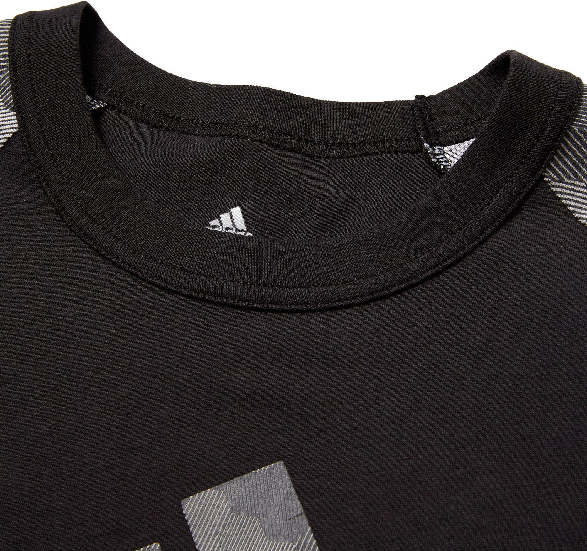 9ed859f42c4 Adidas - Gray Triple Stripe Printed 3⁄4 Sleeve Baseball Shirt for Men -  Lyst. View fullscreen