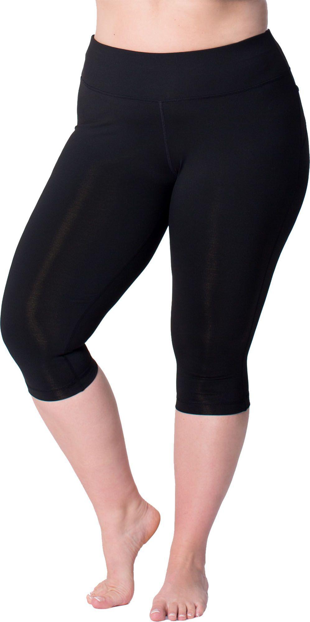c316c623f Rainbeau Curves Curves Plus Size Premier Basix Nylon Capris in Black ...