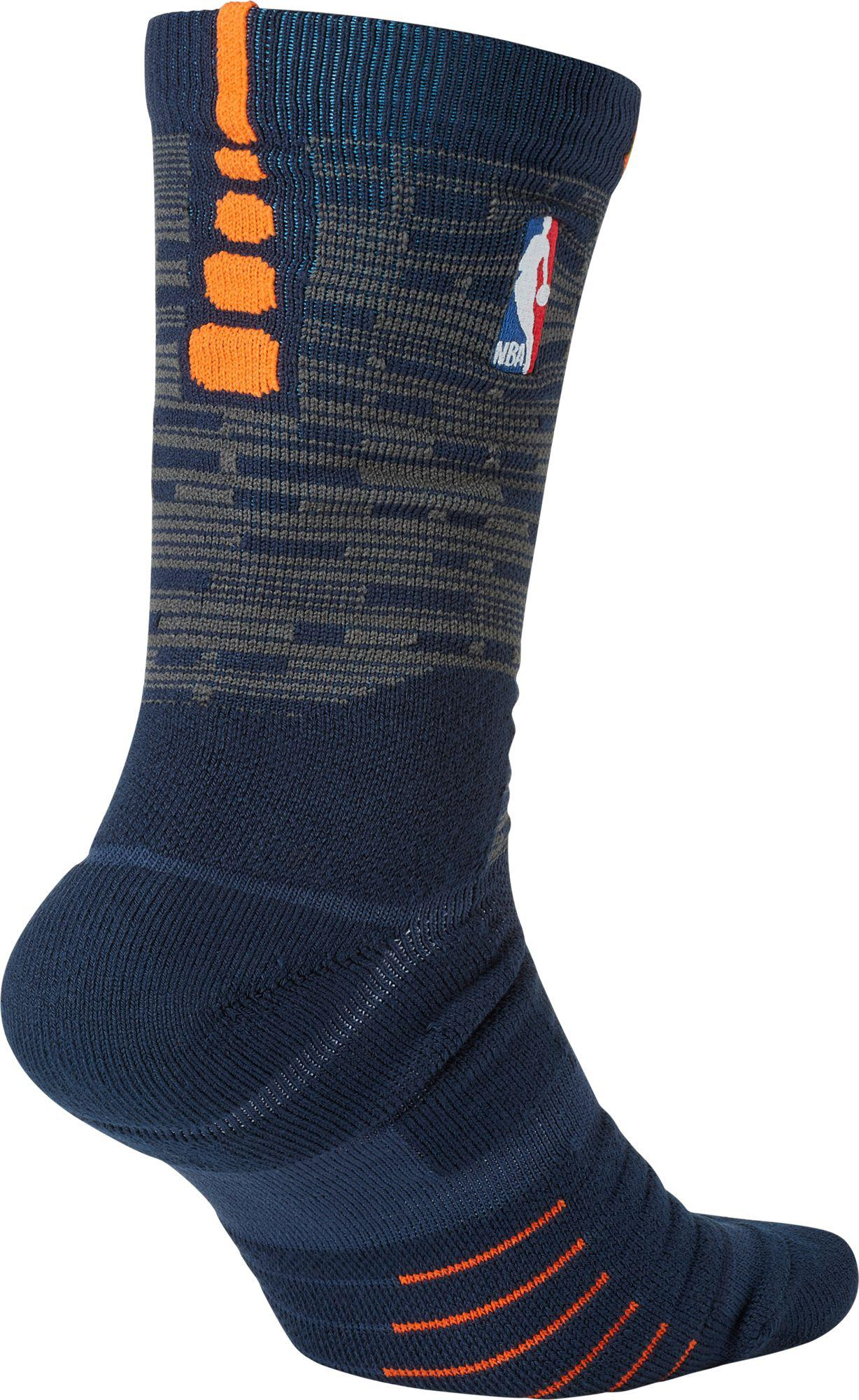 0a5ab0e1ea6 Nike New York Knicks City Edition Elite Quick Nba Crew Socks in Blue ...
