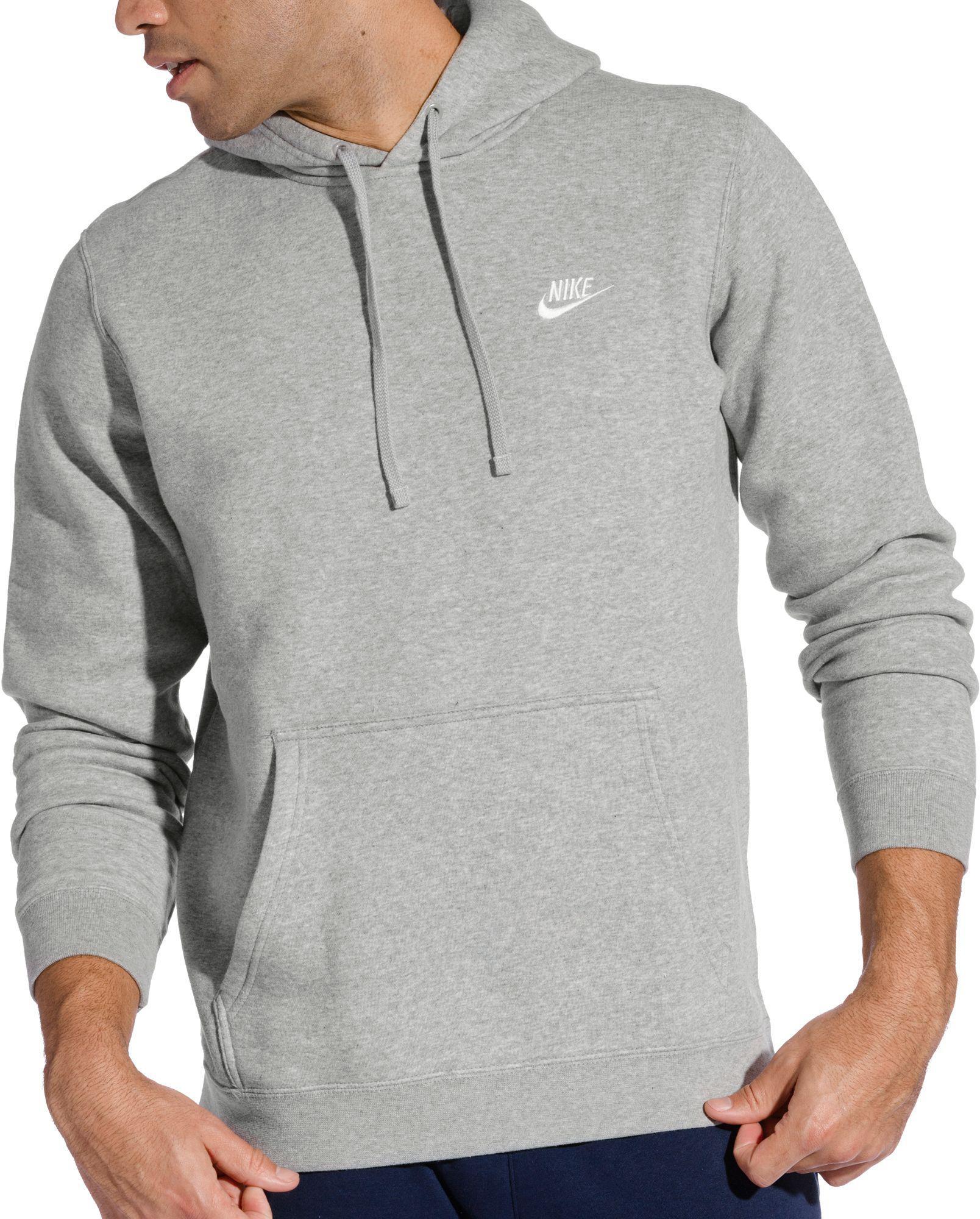 Lyst - Nike Club Fleece Pullover Hoodie in Gray for Men 1dc7d86b191b