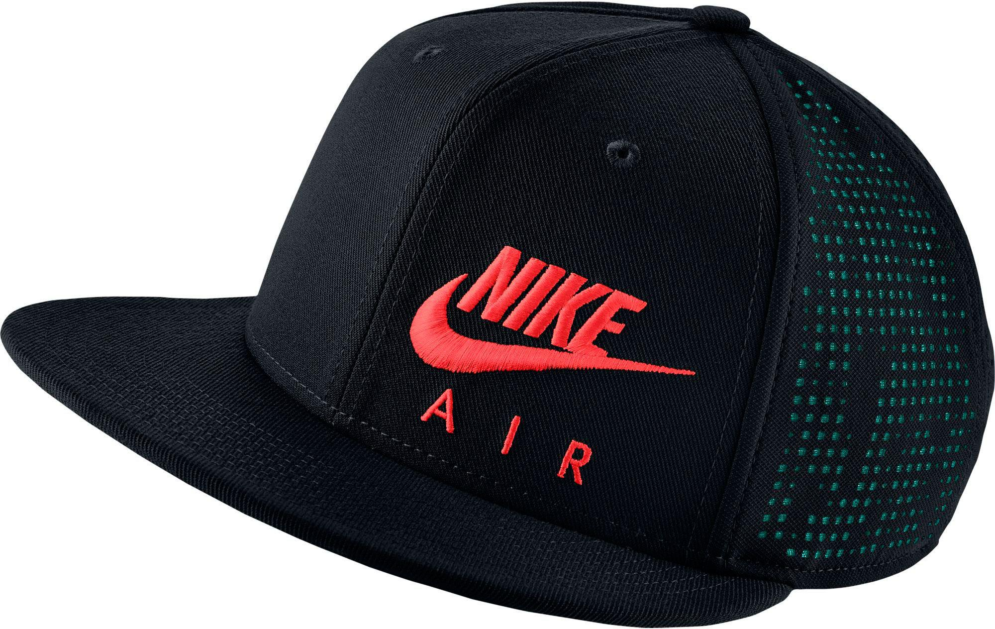 86d12d7d7ea8a ... switzerland nike. mens black air hybrid true adjustable snapback hat  d7224 45e55