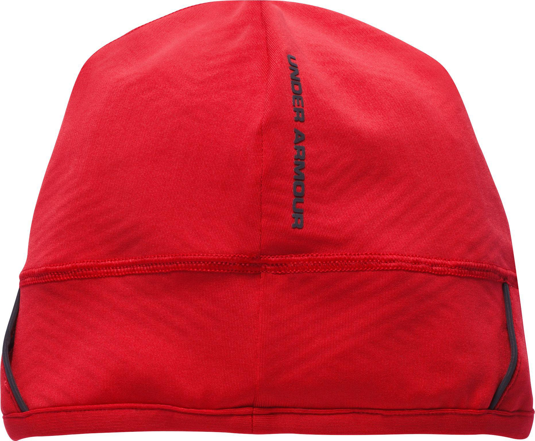 d95e9986495 Lyst - Under Armour Coldgear Infrared Running Beanie in Red for Men