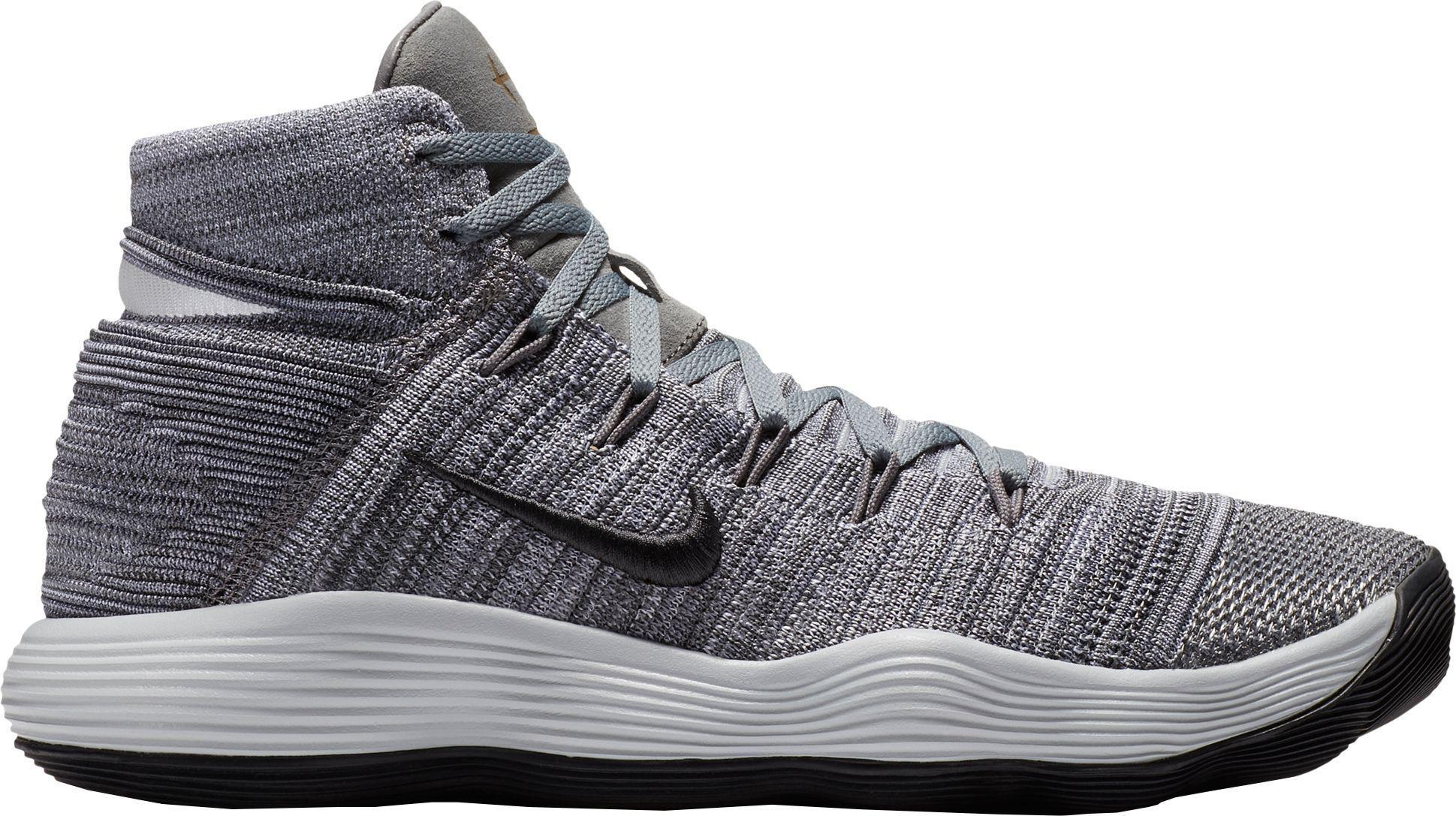 987662a66ba133 Nike - Gray React Hyperdunk 2017 Flyknit Basketball Shoes for Men - Lyst