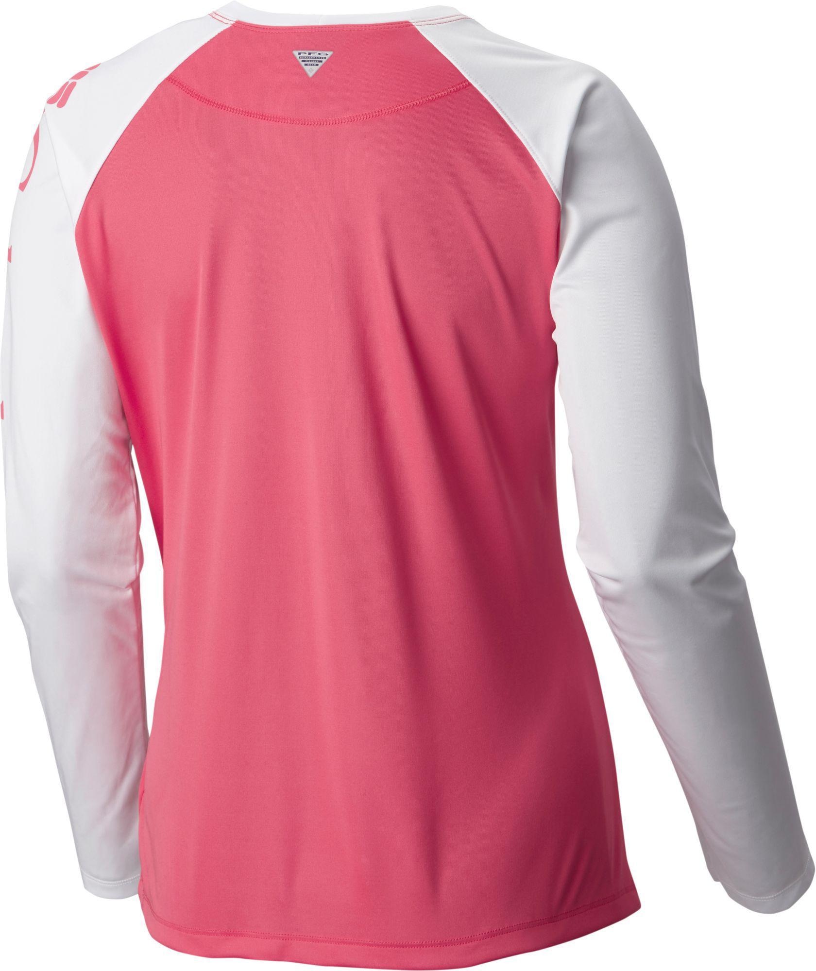 bb4622e8cbd Lyst - Columbia Pfg Tidal Tee Ii Long Sleeve Shirt in Pink
