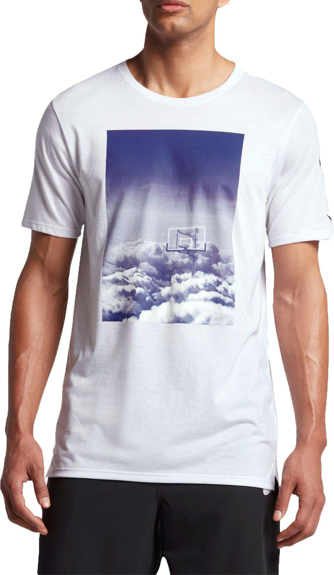 2f44f5e4 Nike Dry Hoop Heaven Graphic Basketball T-shirt in White for Men - Lyst