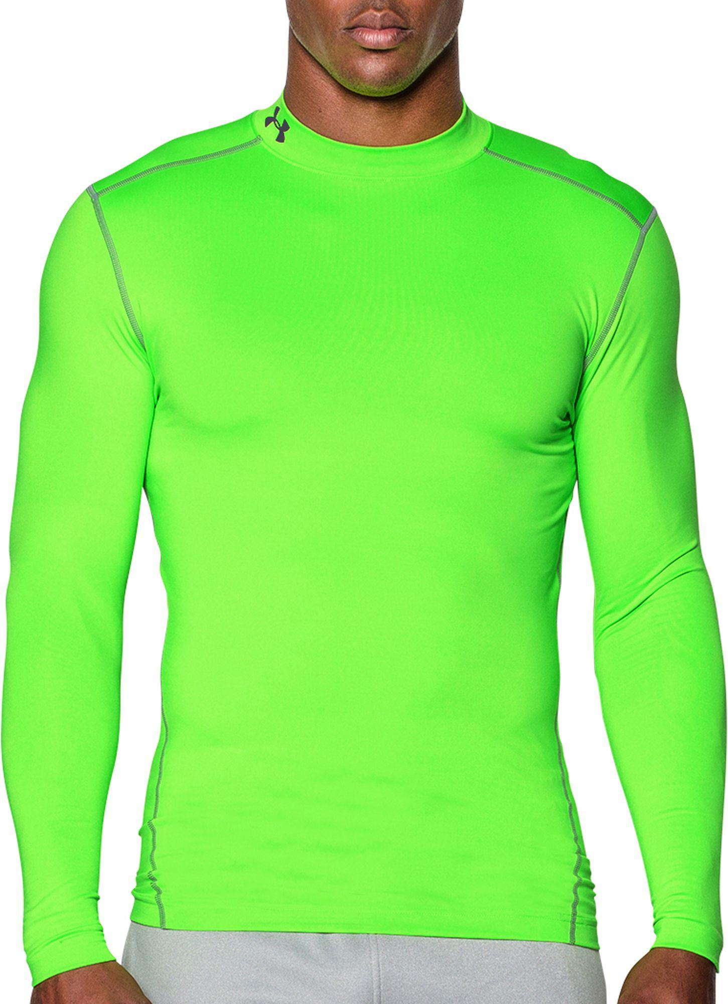 d14e4915adc Under Armour - Green Coldgear Armour Compression Mock Neck Long Sleeve  Shirt for Men - Lyst