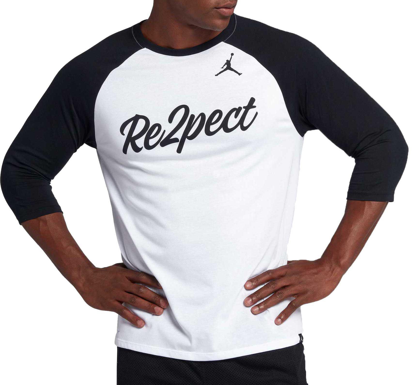 2b4022a06e2e Lyst - Nike Jordan Re2pect Raglan Tee in White for Men