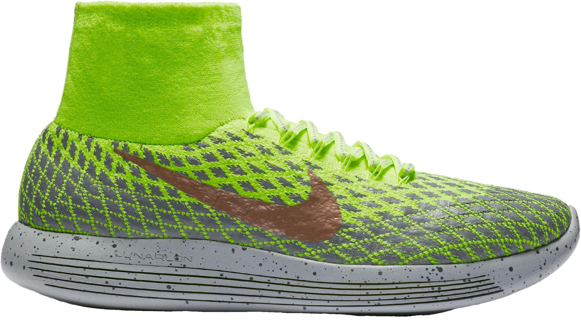 sneakers for cheap eb063 0adea Nike - Green Lunarepic Low Flyknit Shield Running Shoes for Men - Lyst