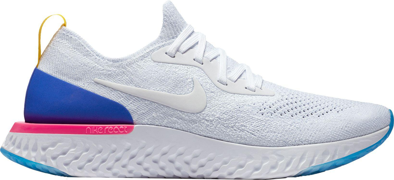 30f34a182116e Lyst - Nike Epic React Flyknit Running Shoes in Blue