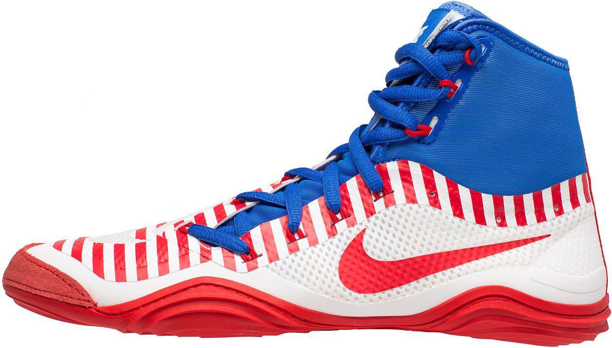 cheaper 26118 d0d87 ... white uni red  women s nike wrestling shoes on poshmark  lyst nike  hypersweep wrestling shoes in blue for men ...