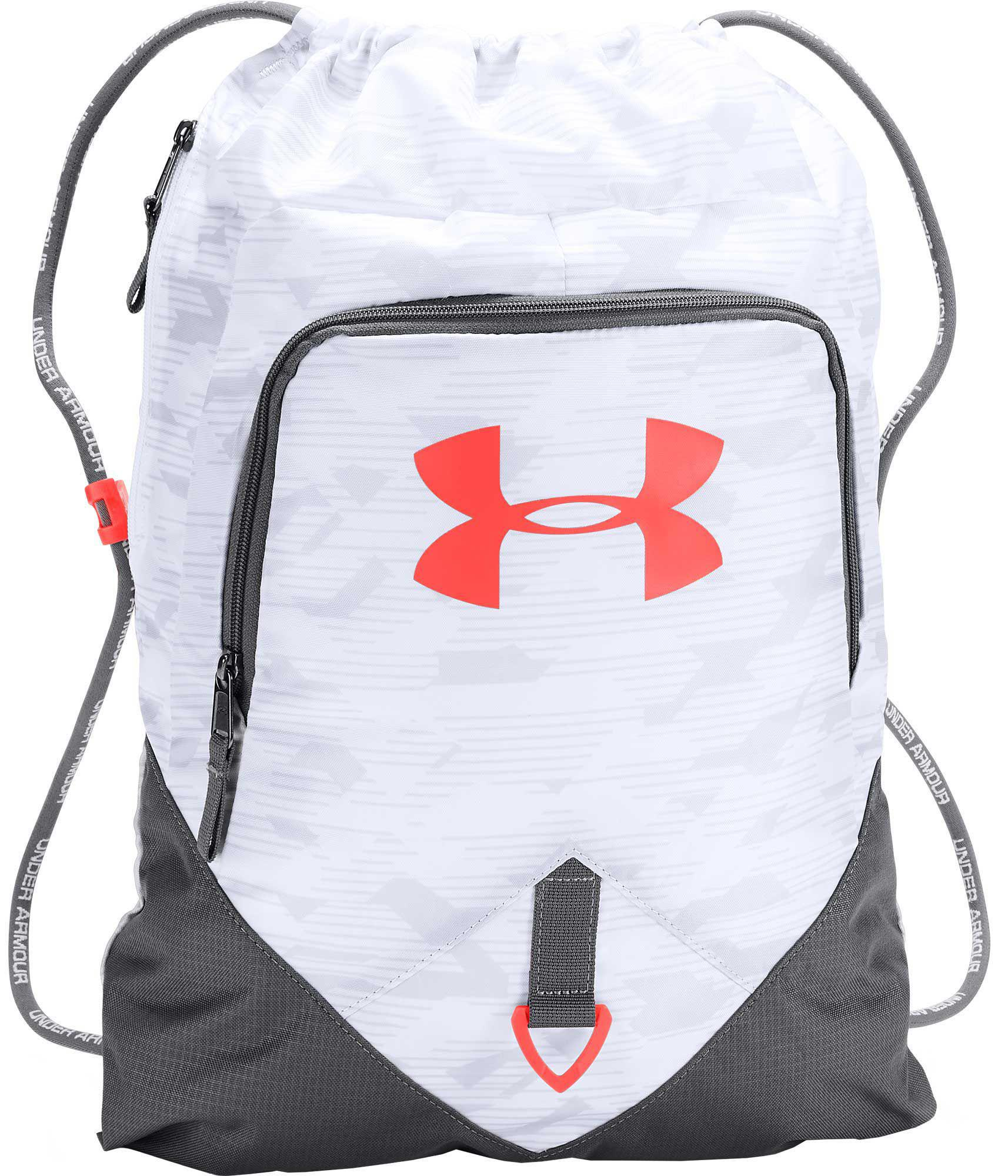 5aa285c3359 Under Armour Undeniable Sackpack in White for Men - Lyst