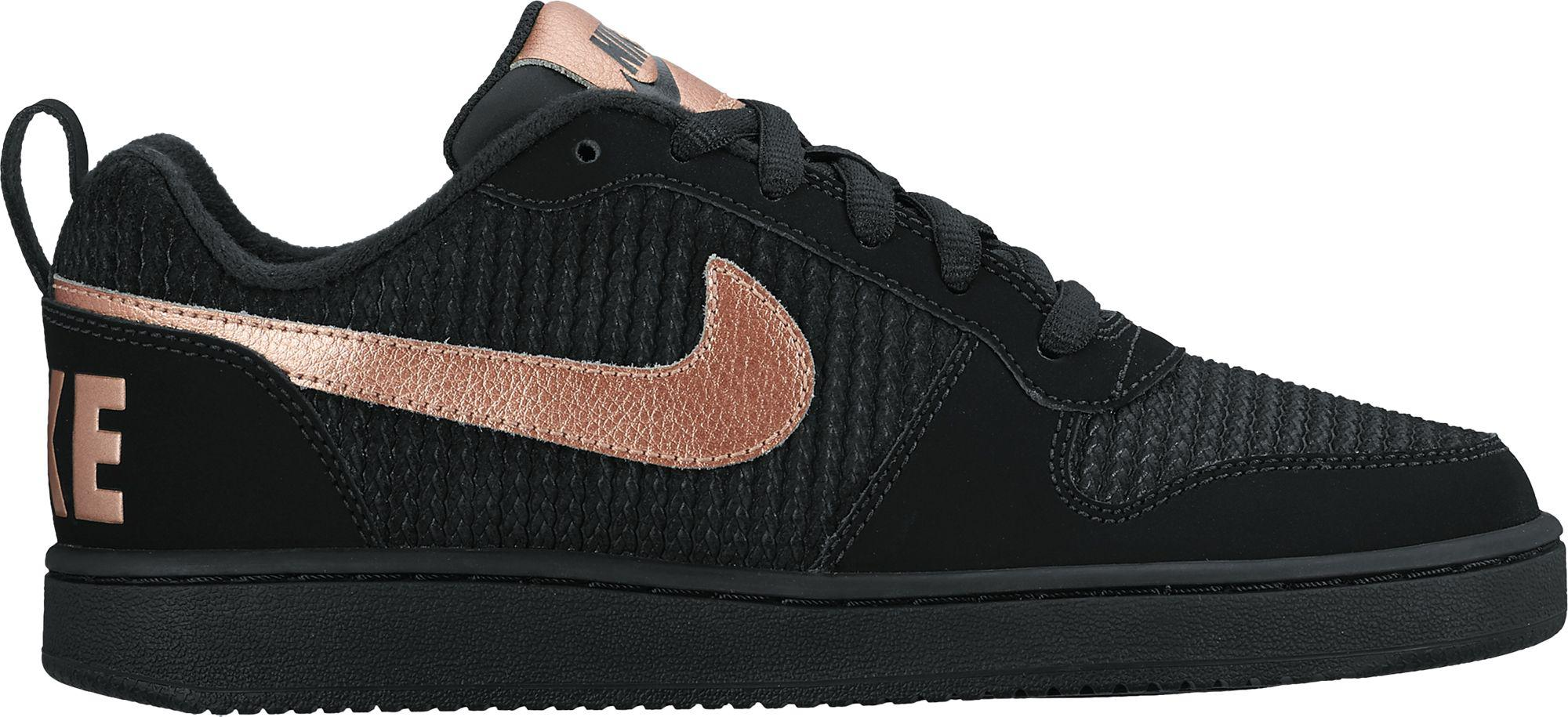 on sale d0e53 f696c Nike Court Borough Low Shoes in Black - Lyst