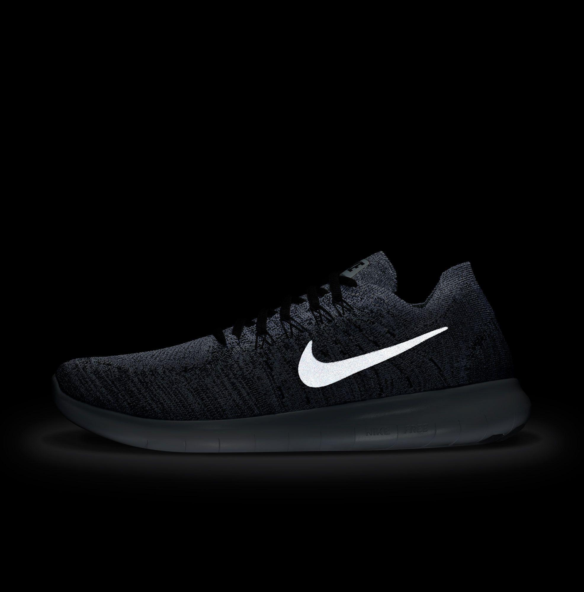 32cb2c52f23c shop nike gray free rn flyknit 2017 running shoes for men lyst bfe49 d1ee4