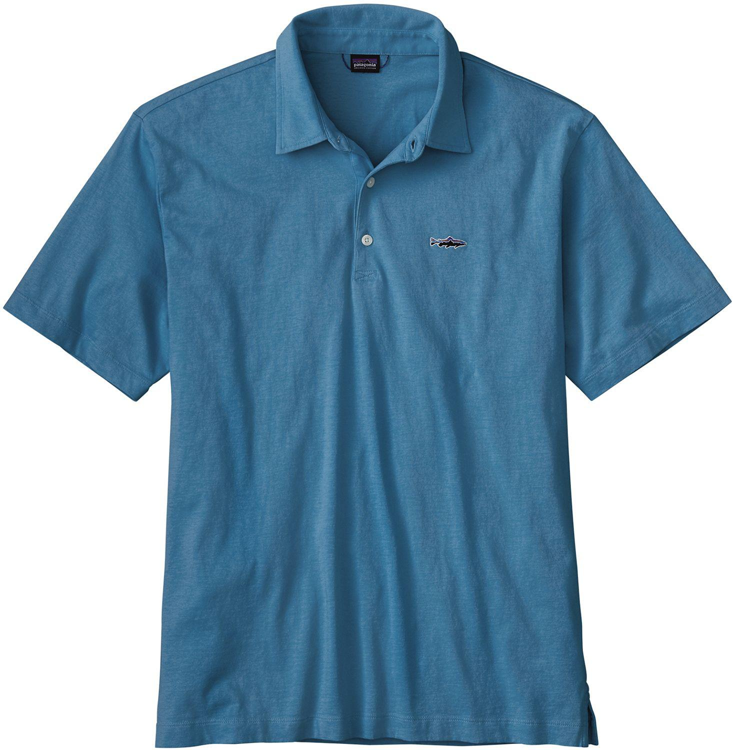 2c5ae9b03 Lyst - Patagonia Trout Fitz Roy Polo Shirt in Blue for Men