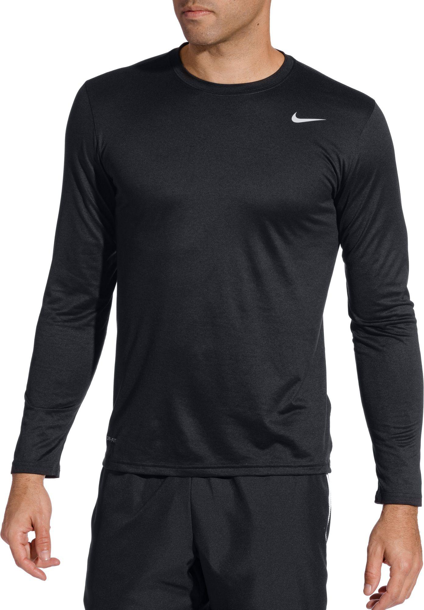 6f06fcee Lyst - Nike Legend Long Sleeve Shirt in Black for Men